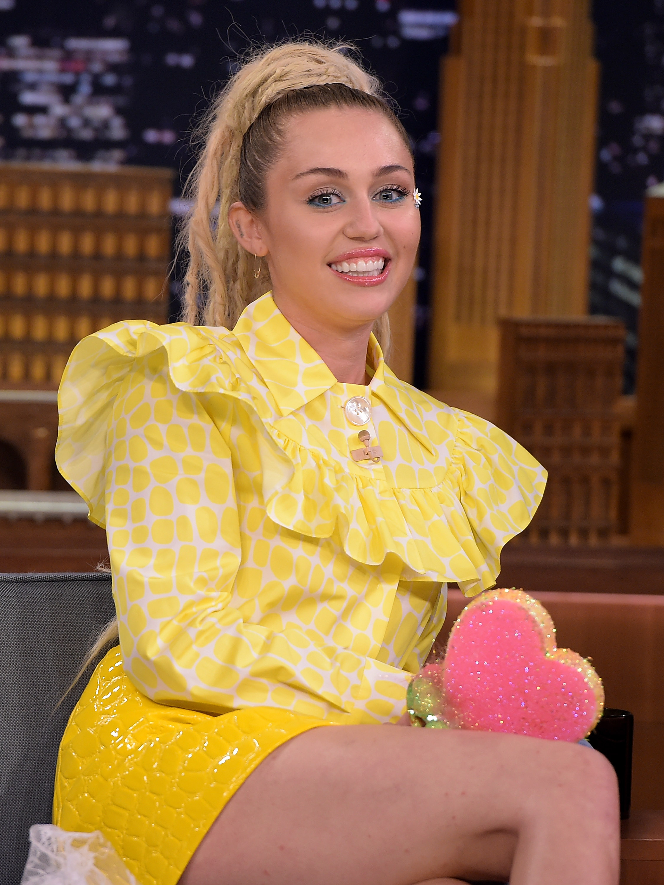 Miley Cyrus at  The Tonight Show Starring Jimmy Fallon  in New York City on Oct. 1, 2015.