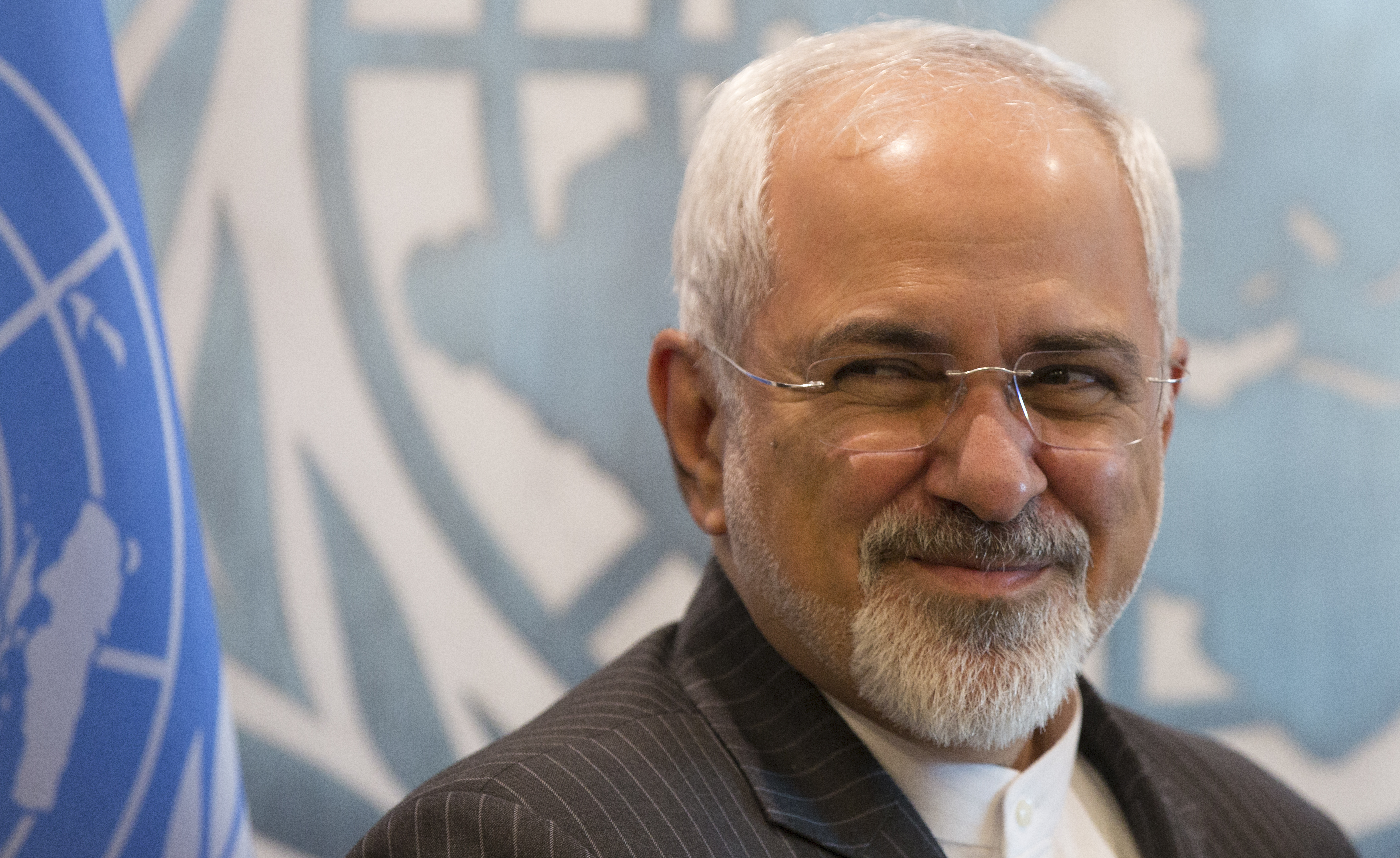 Mohammad Javad Zarif, Minister for Foreign Affairs of the Islamic Republic of Iran  at the United Nations Headquarters in New York City.
