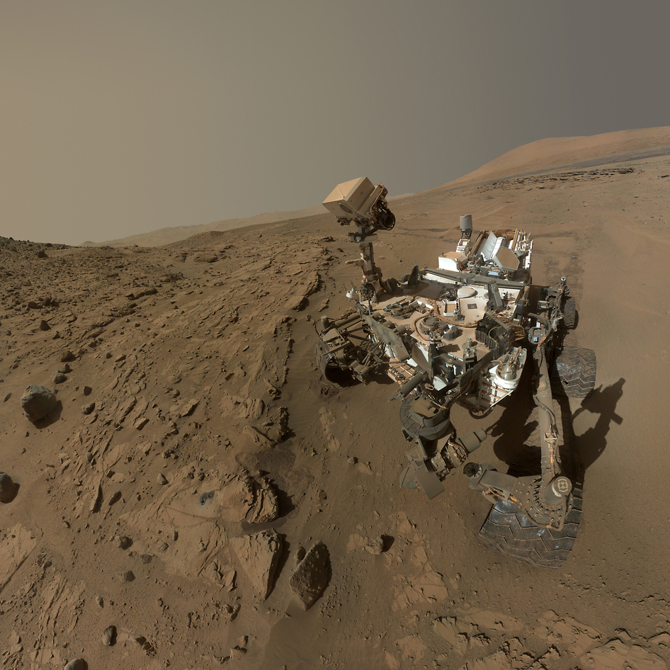 <b>Mars Rover Selfie, 2015</b>; NASA's Mars Curiosity Rover captures a selfie to mark a full Martian year -- 687 Earth days -- spent exploring the Red Planet.