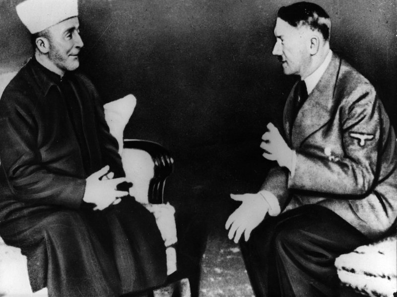 Adolf Hitler talking to Grand Mufti Haj Amin el Husseini