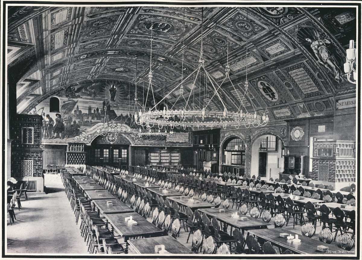 'Munich Hofbrau-Haus', c1903. From Penrose's Pictorial Annual 1903-4, edited by William Gamble. [A. W. Penrose & Co., London, 1903-4].