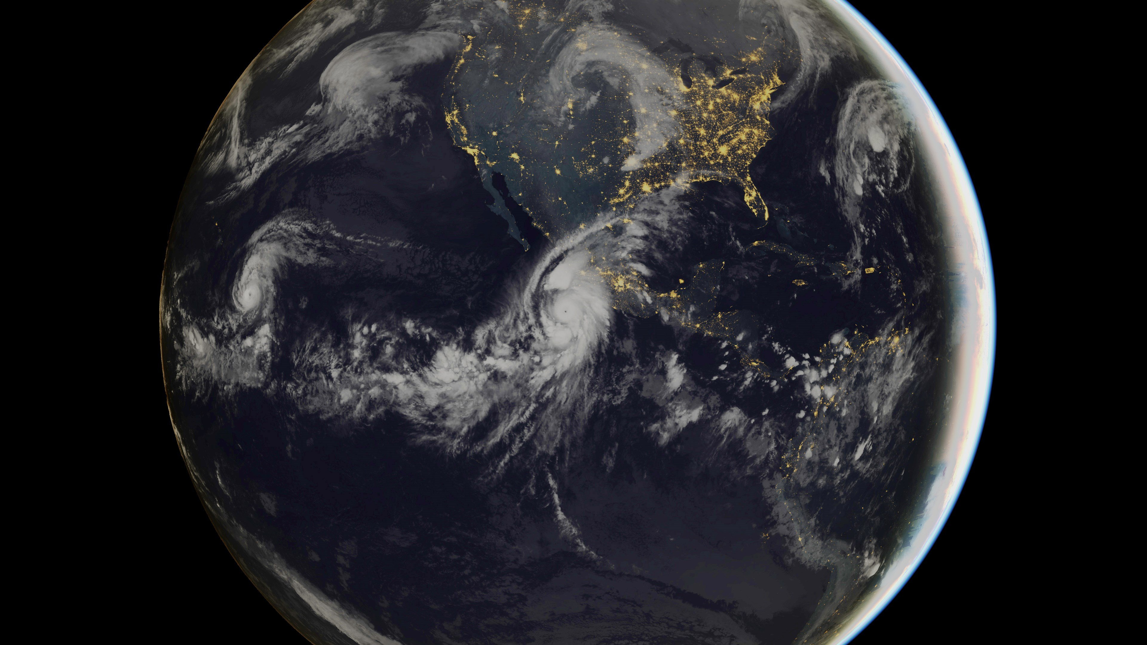 This Eumetsat satellite image shows category 5 Hurricane Patricia, off the Pacific coast of Mexico on Oct. 23, 2015.
