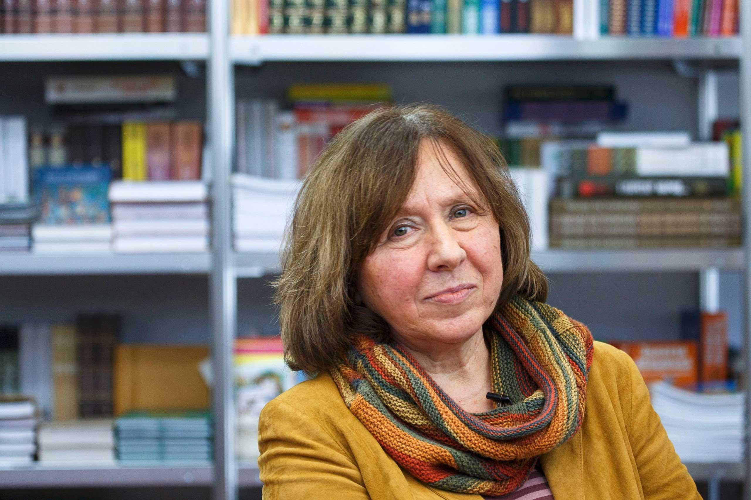 Svetlana Alexievich in Minsk, Belarus in 2014.