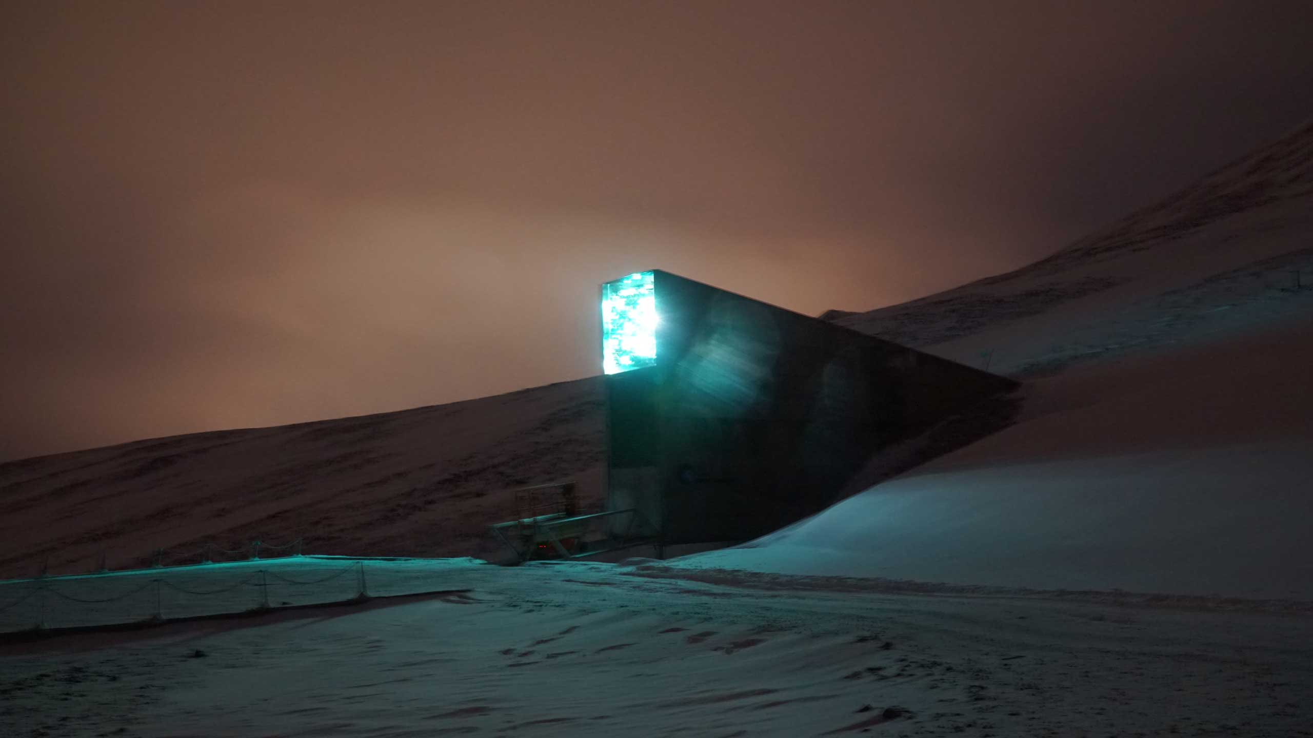 A view of the Global Seed Vault in Svalbard, Norway, Oct. 18, 2015.