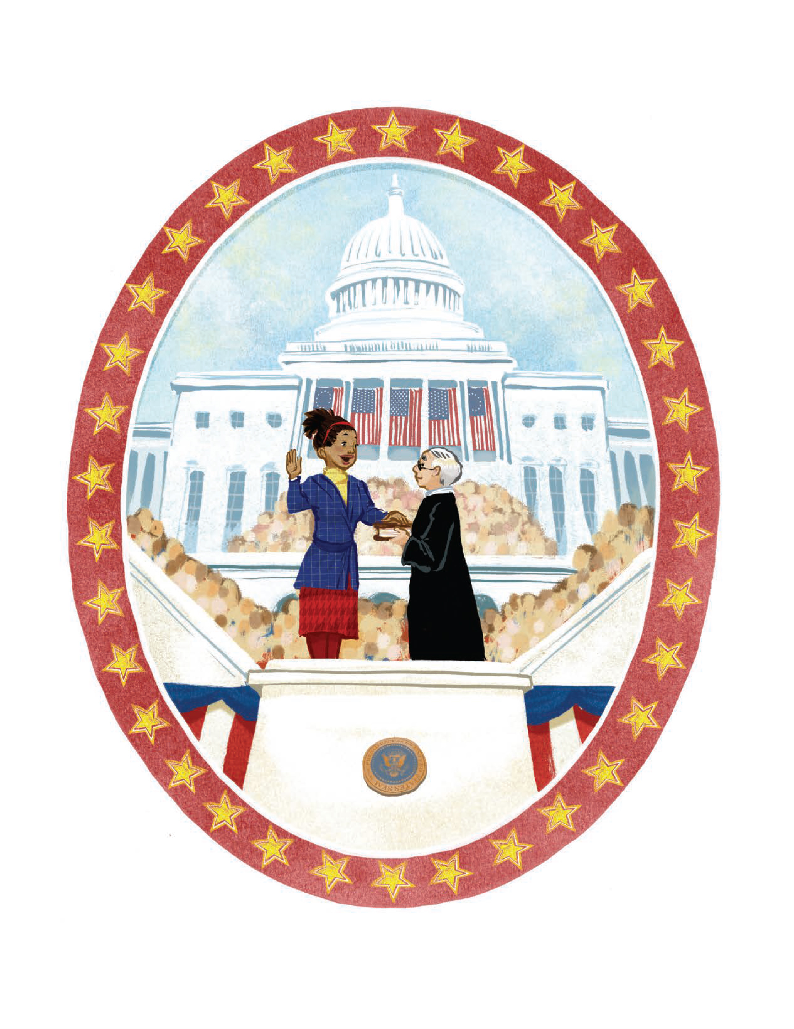 The last page of  Grace for President.  (Courtesy of Disney-Hyperion)