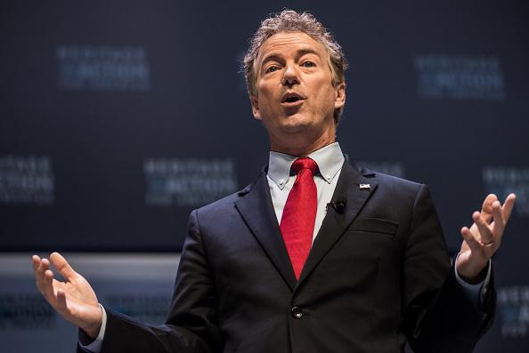 Kentucky Sen. Rand Paul campaigns on September 18, 2015 in Greenville, South Carolina.