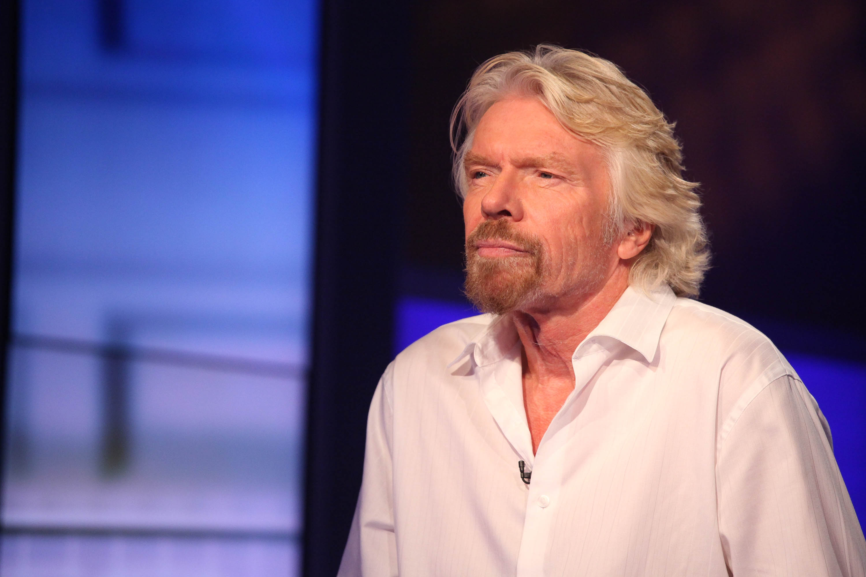 Richard Branson visits  Cavuto  On FOX Business Network in New York City on Sept. 23, 2014.