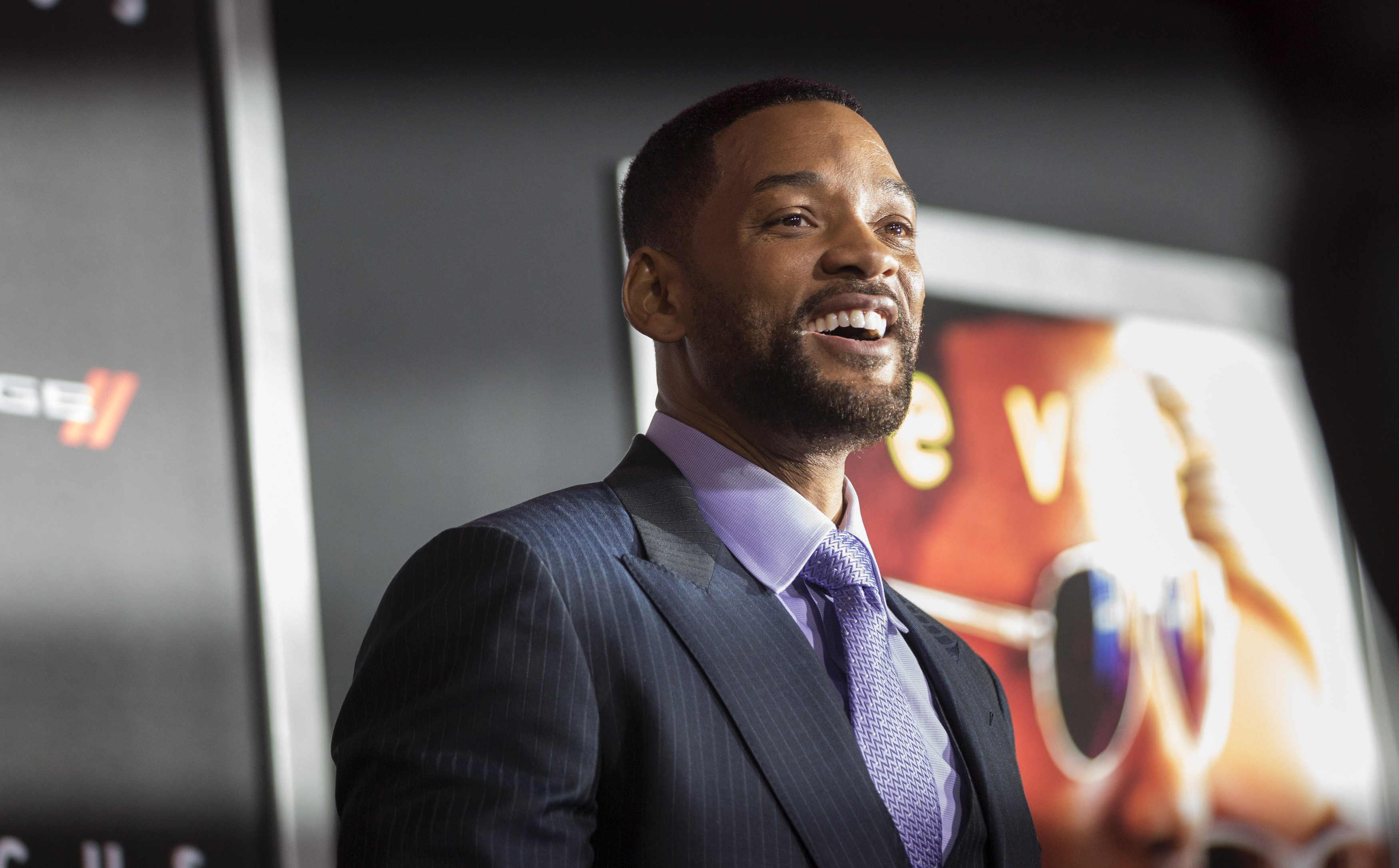 Cast member Will Smith poses at the premiere of  Focus  at the TCL Chinese theatre in Hollywood, California February 24, 2015.