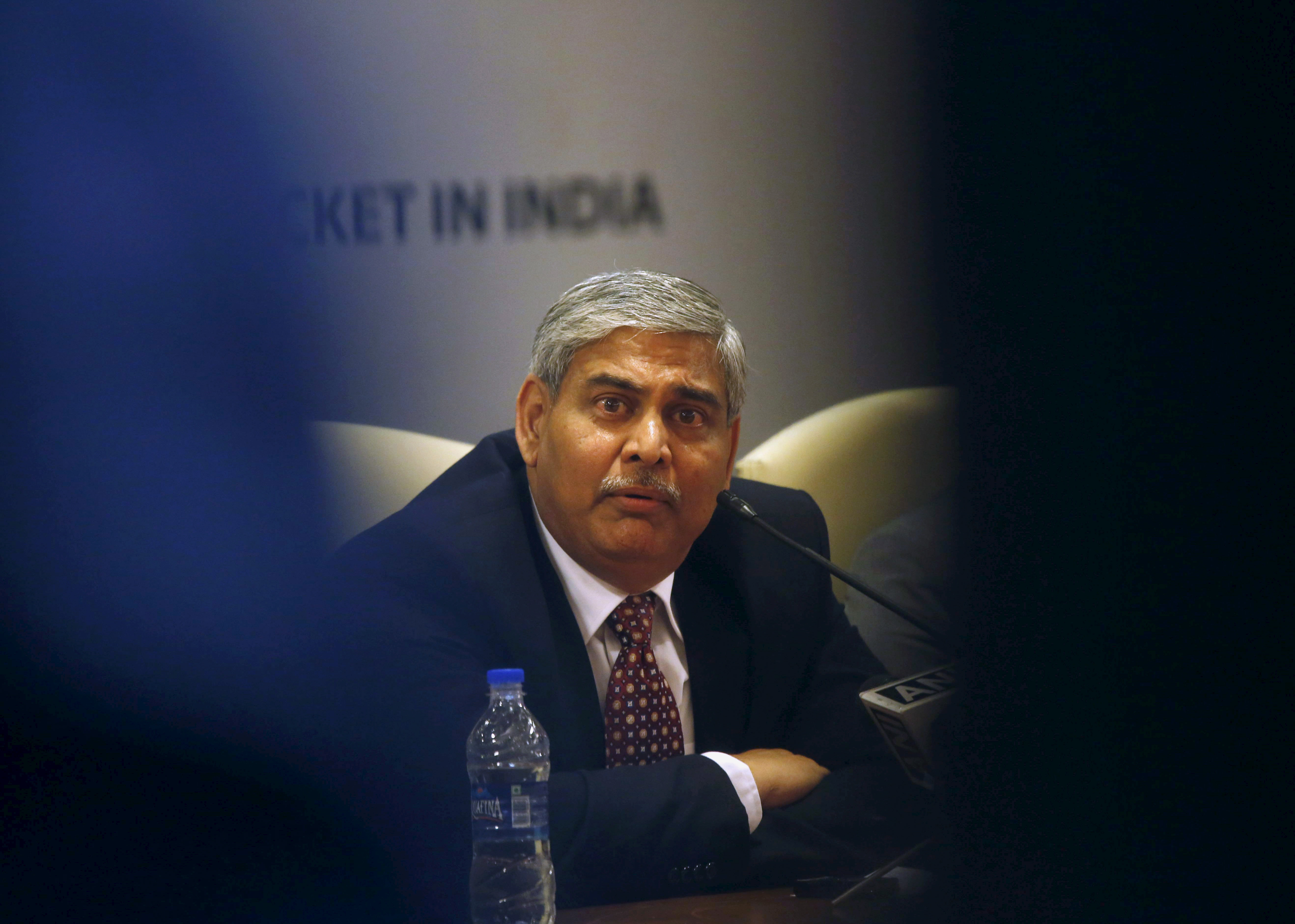 Shashank Manohar, newly-elected president of Board of Control for Cricket in India (BCCI), speaks during a news conference in Mumbai October 4, 2015.