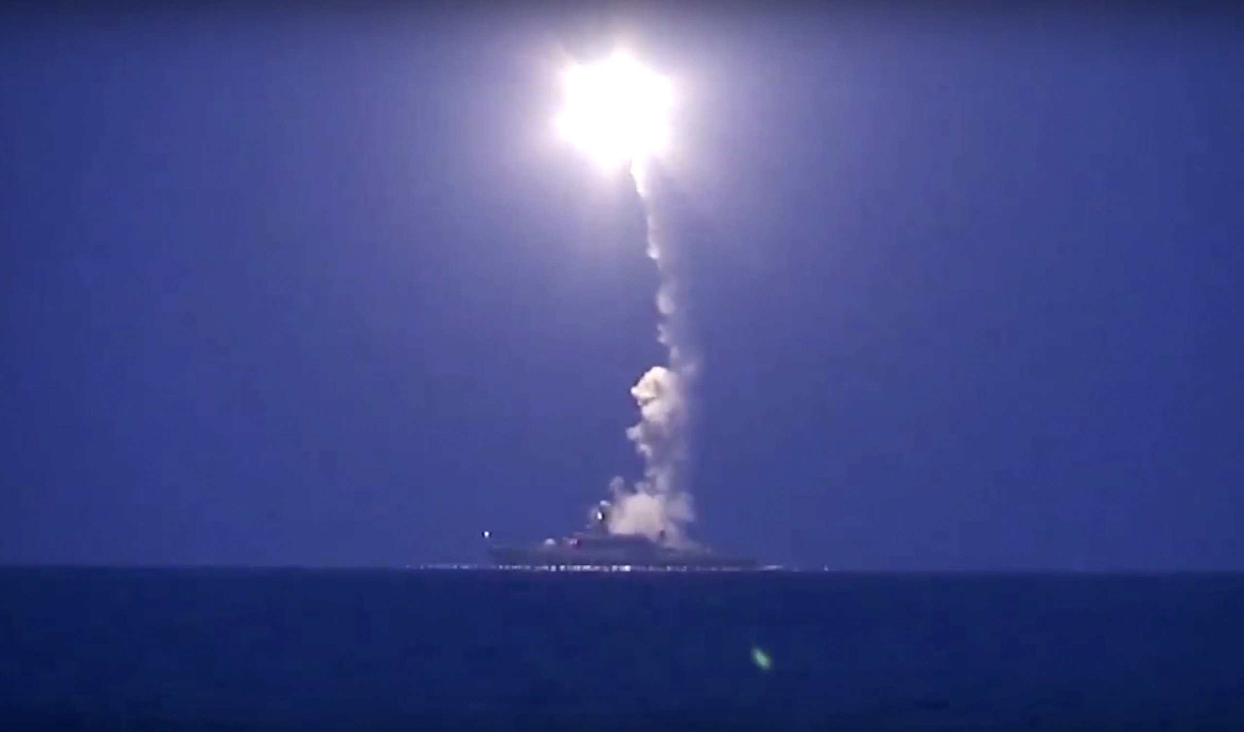 Footage released by the Russian Defense Ministry show air and missile strikes being carried out in early October against targets inSyria.