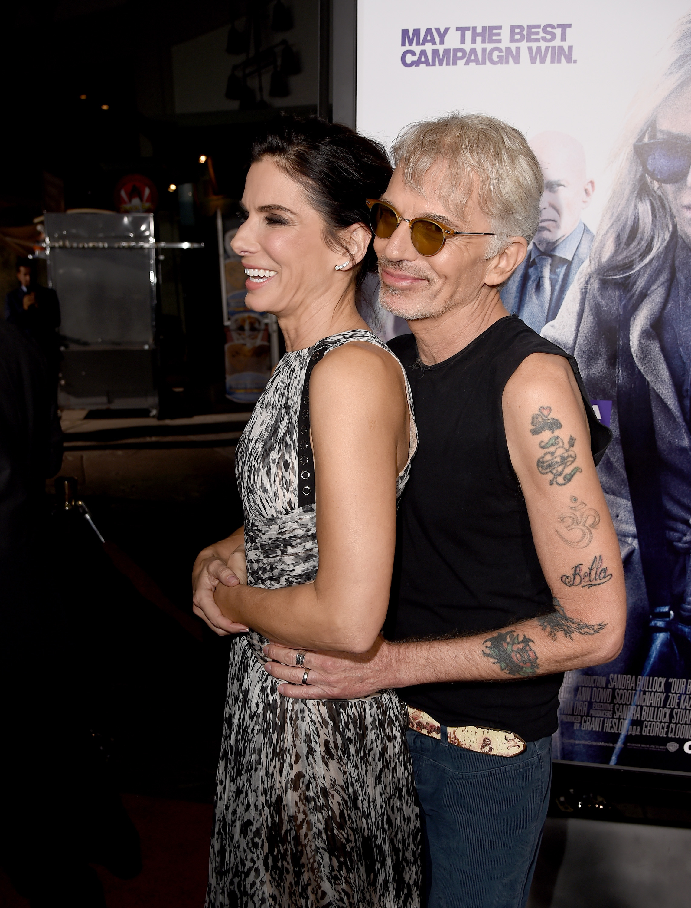 Sandra Bullock and Billy Bob Thornton attend the premiere of  Our Brand Is Crisis  on Oct. 26, 2015 in Hollywood, Ca.