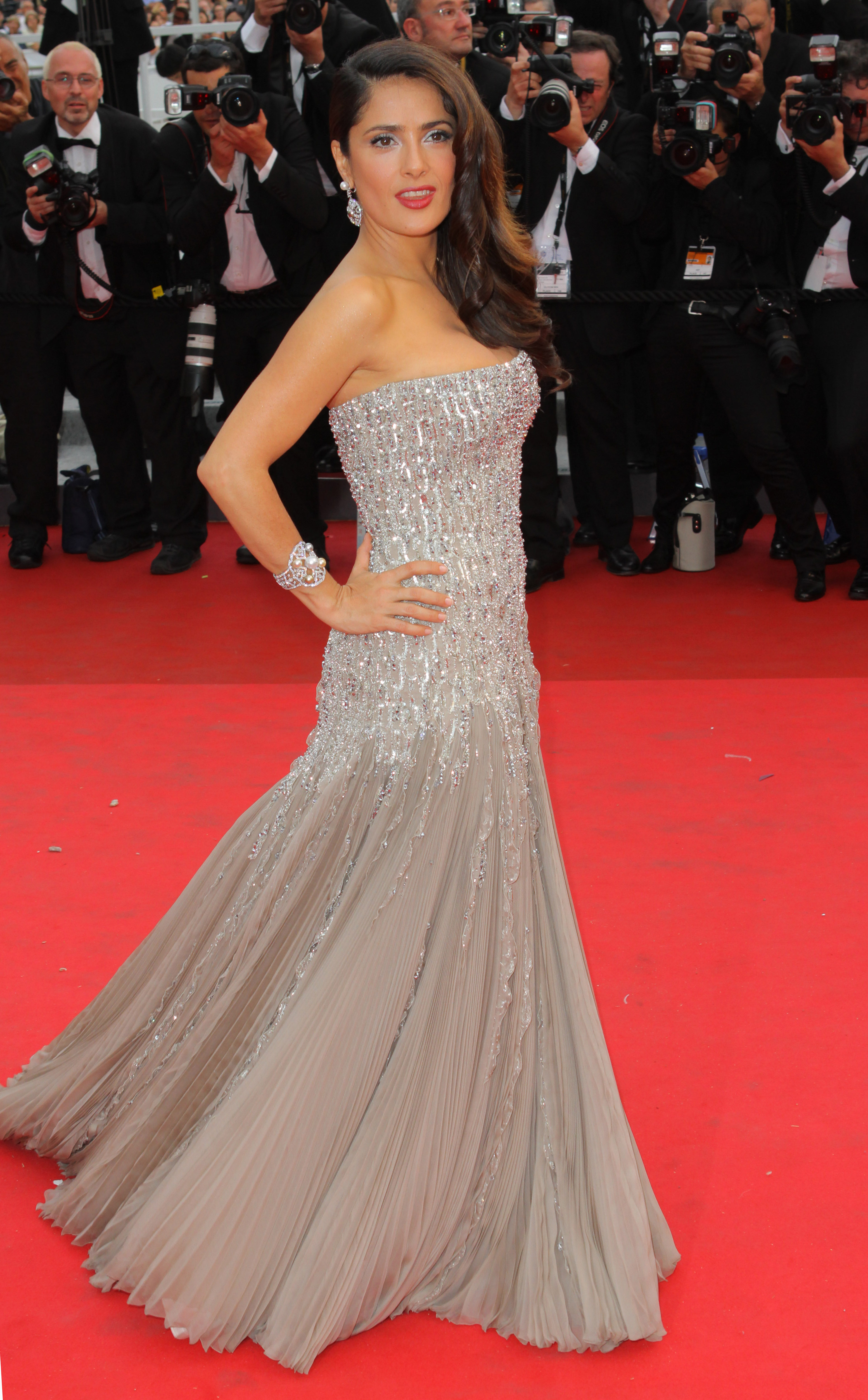 Salma Hayek  on May 11, 2011 in Cannes.