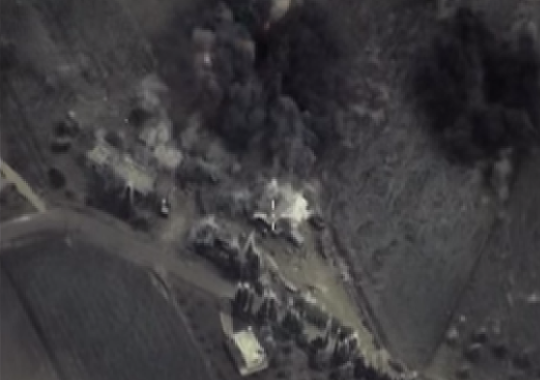 This Russian video appears to show Russian bombs missing their targets.