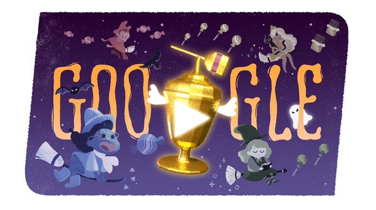 Google Doodle Halloween Global Candy Cup 2015 Time