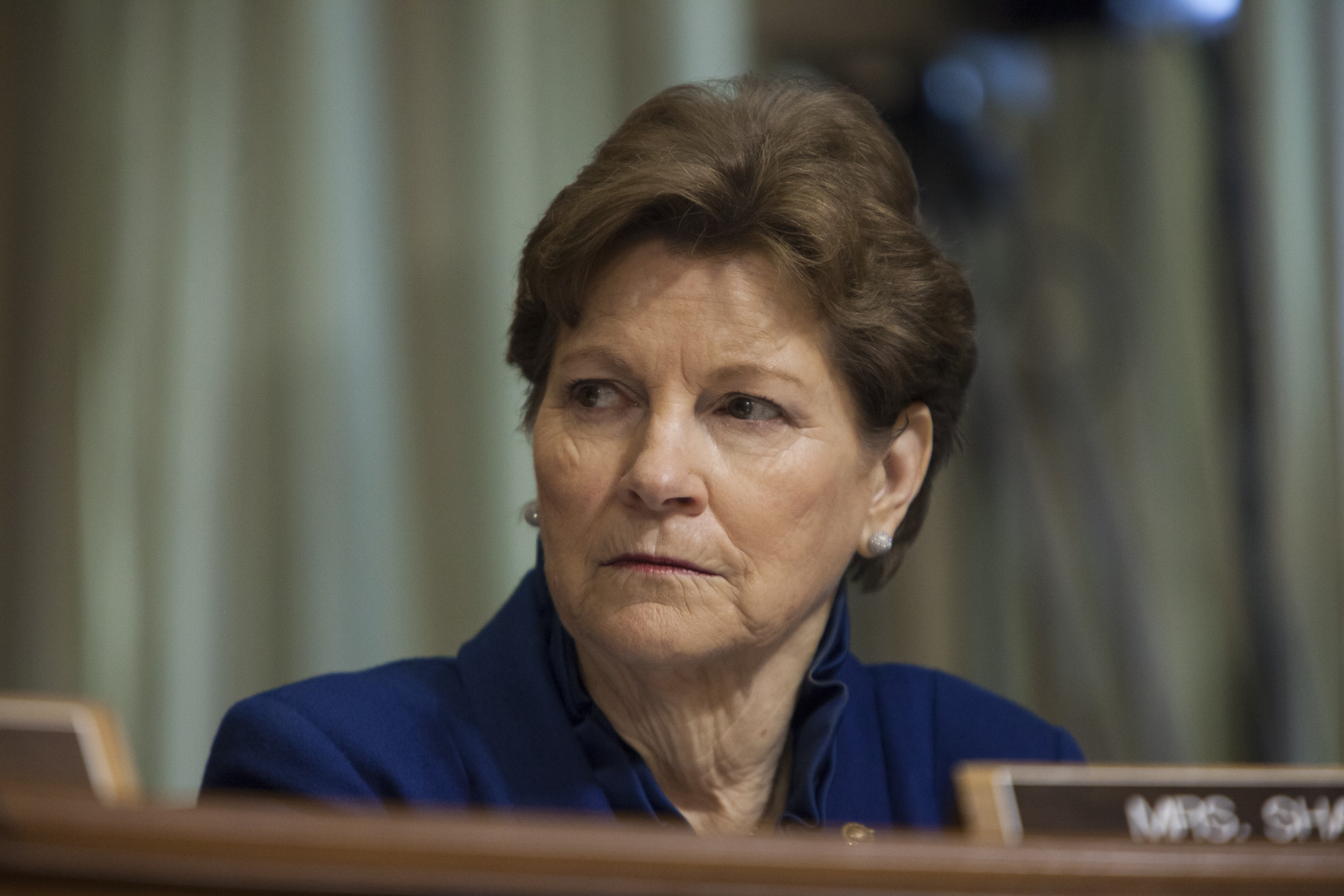 Senator Jeanne Shaheen listens to opening remarks during a Senate Foreign Relations Committee hearing on U.S. Policy In Ukraine in Washington, D.C., USA on March 10, 2015.