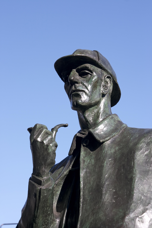 The Sherlock Holmes statue on Baker Street in London.