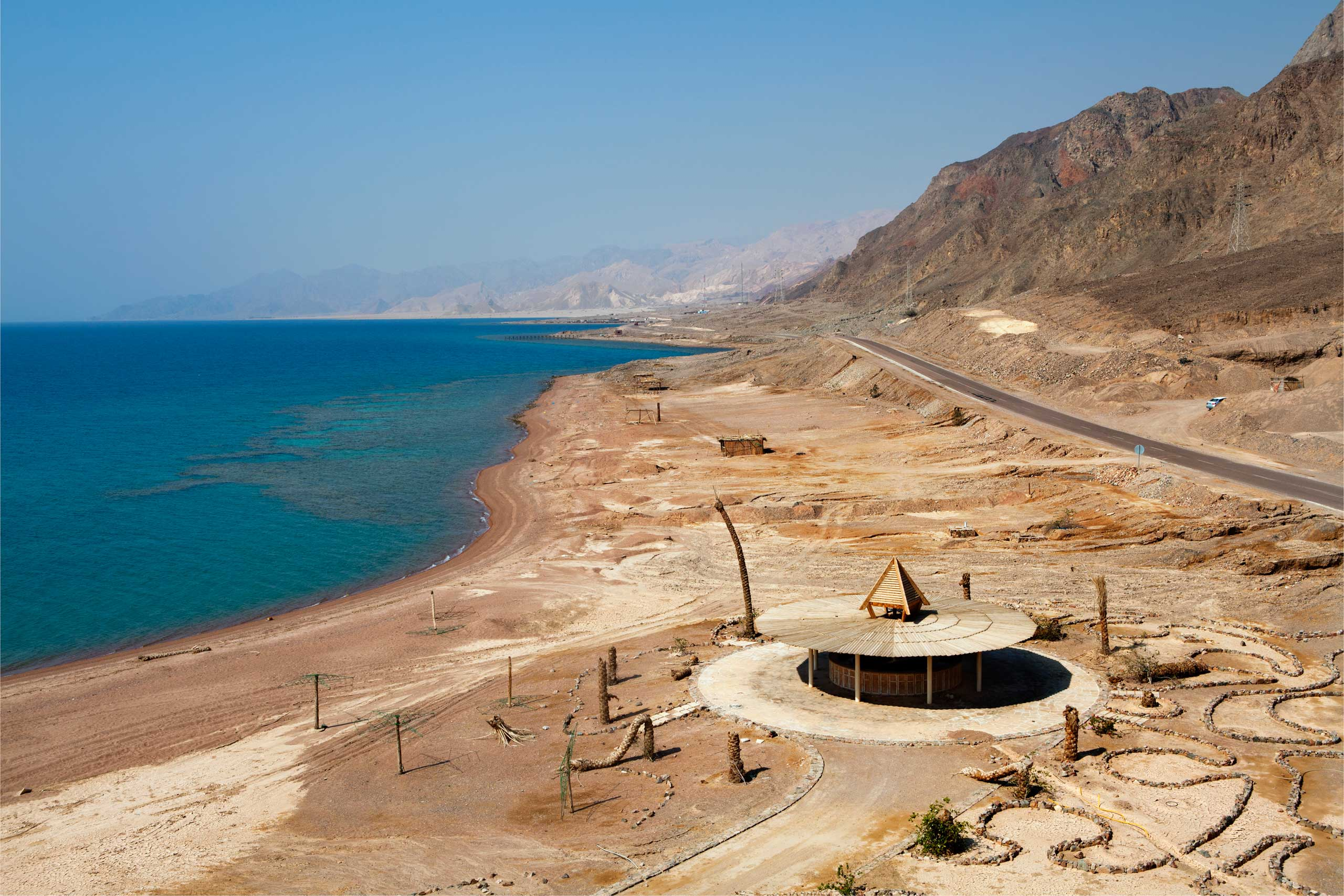 Seaside resort left unfinished and abandoned in Taba, Sinai, July 2014.