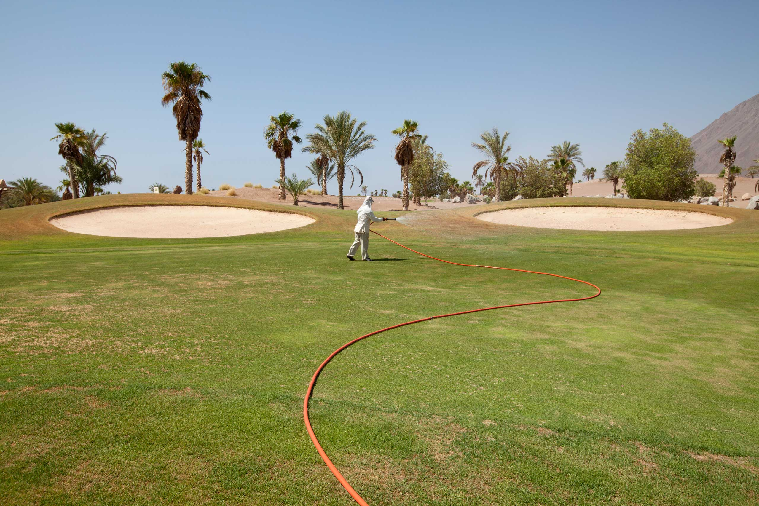A golf course in Taba Heights, Sinai, July 2014.