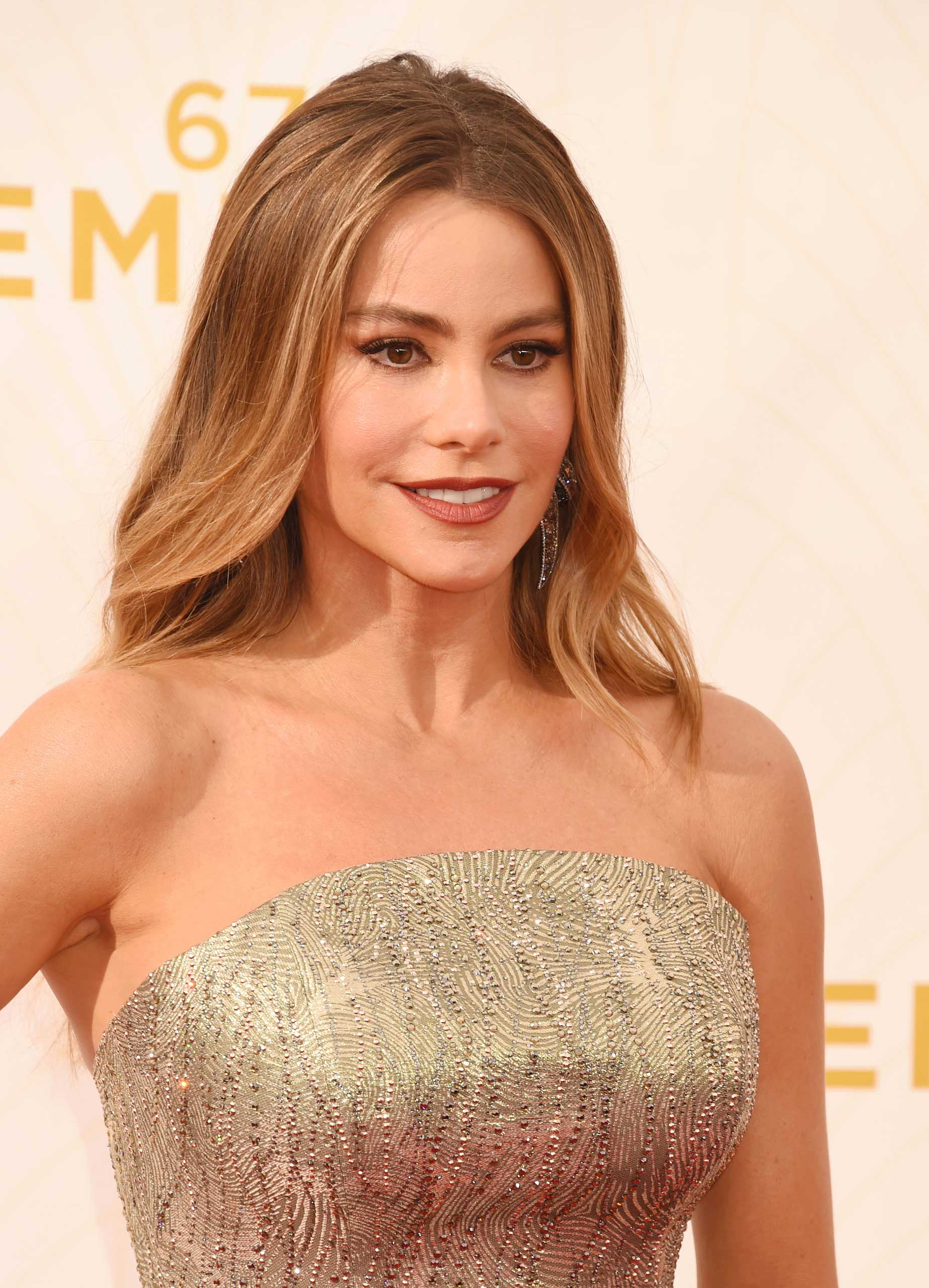 Sofia Vergara at the Emmy Awards in Los Angeles, on Sept. 20, 2015.
