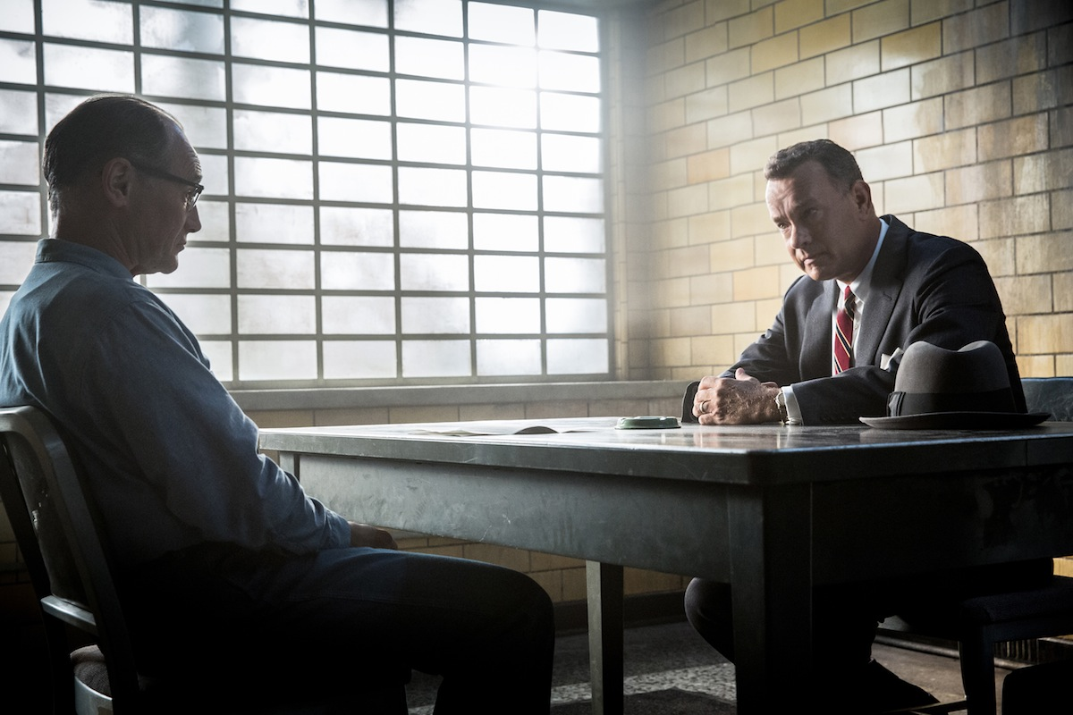 Mark Rylance, left, and Tom Hanks appear in a scene from  Bridge of Spies.