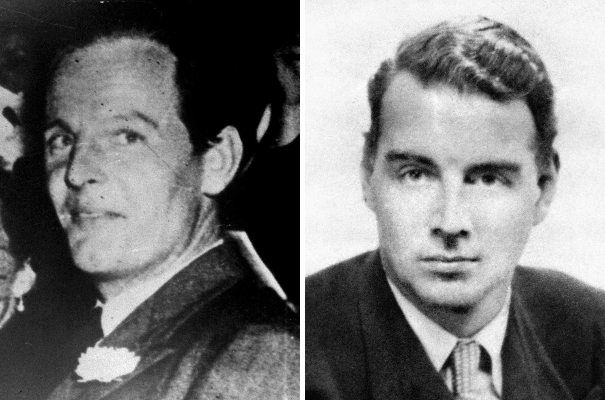 Soviet spies Donald Maclean (left) and Guy Burgess, as official files made public for the first time reveal that Kim Philby made desperate attempts to save his skin after the flight of his fellow Soviet spies, Oct. 23, 2015.