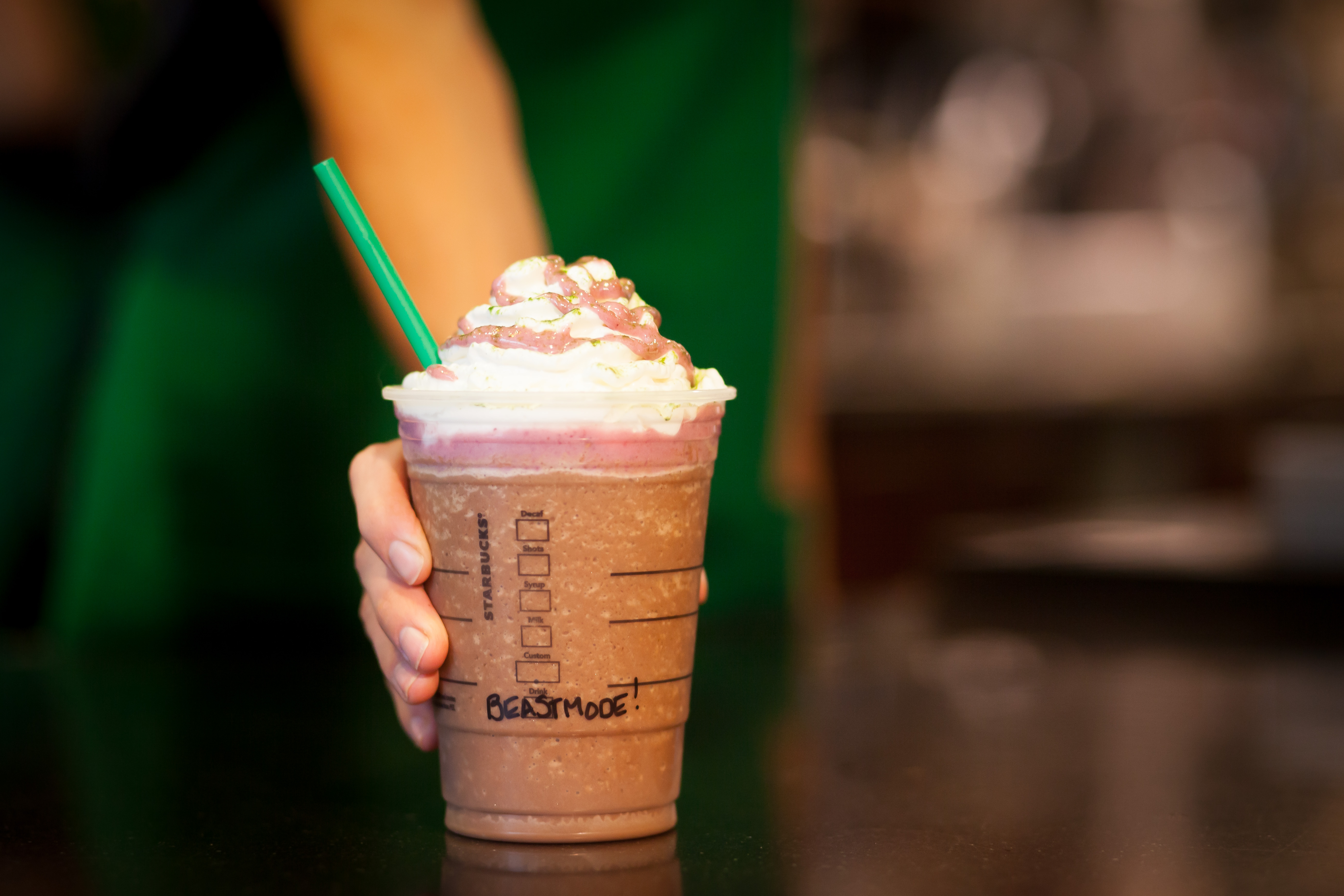 NFL football player Marshawn Lynch, of the Seattle Seahawks,  teamed up with Starbucks to introduce the Beast Mode Frappuccino blended beverage, to be sold during the rest of the football season in Starbucks stores in Washington state and Oakland to benefit his foundation.
