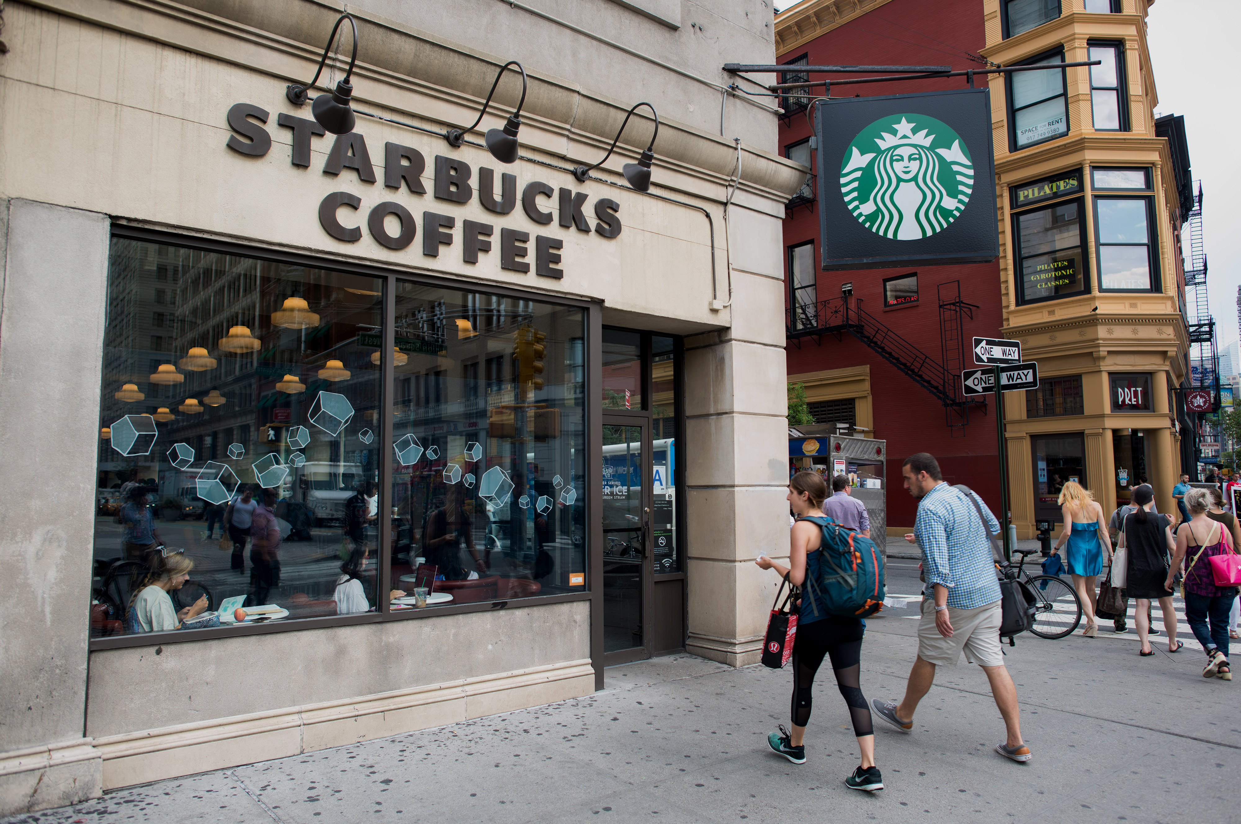 A Starbucks in New York City, on  July 21, 2015.