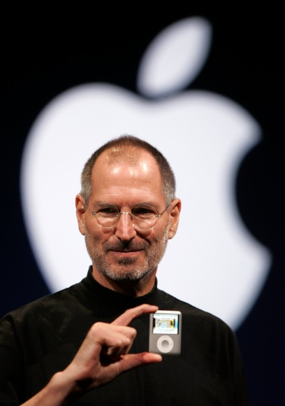 Steve Jobs introduces the Apple Nano in San Francisco on Sept. 5, 2007.
