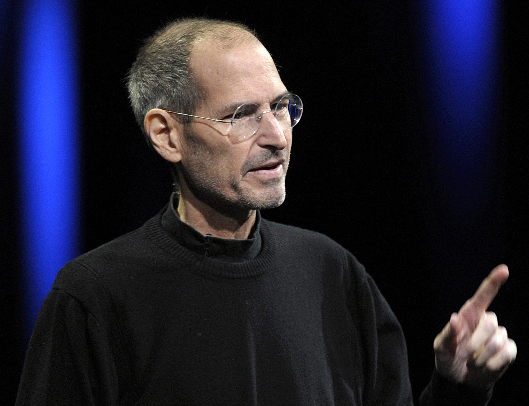 Steve Jobs at the Apple Worldwide Developers Conference 2011 in San Francisco on June 6, 2011.