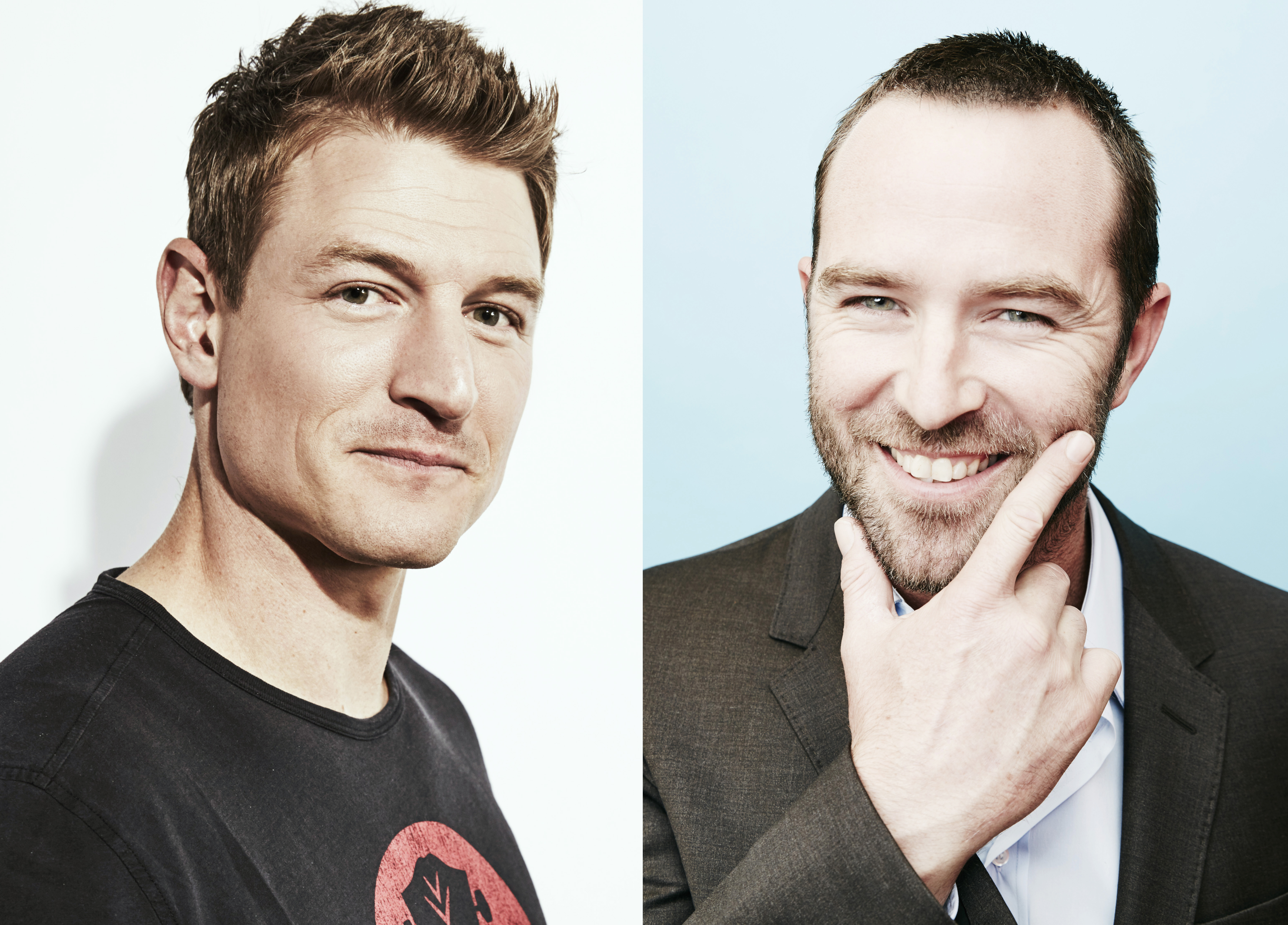 Philip Winchester (L) and Sullivan Stapleton (R) of  Strike Back .