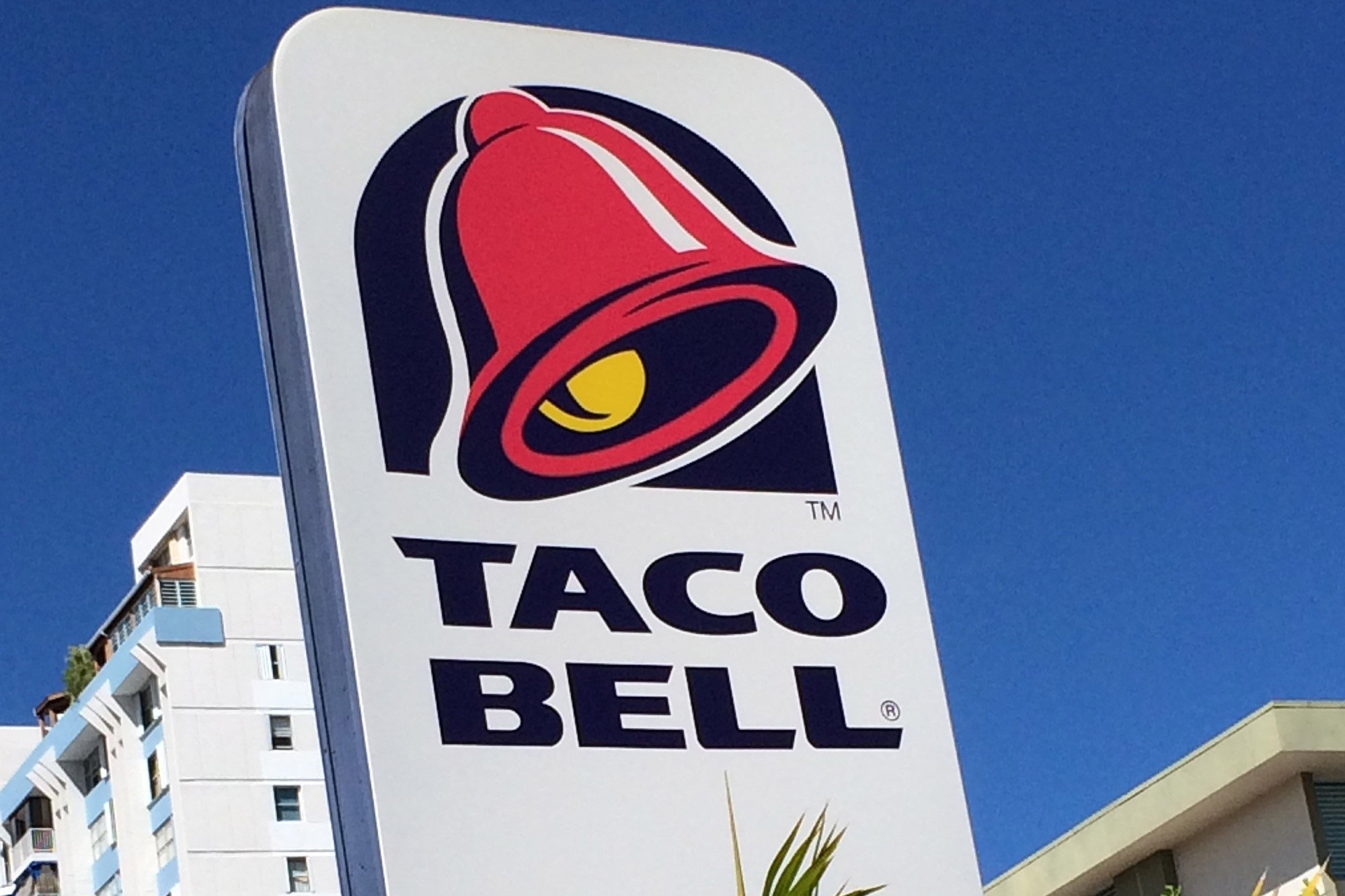 A Taco Bell sign is pictured in San Juan, Puerto Rico on Jan. 26, 2015.