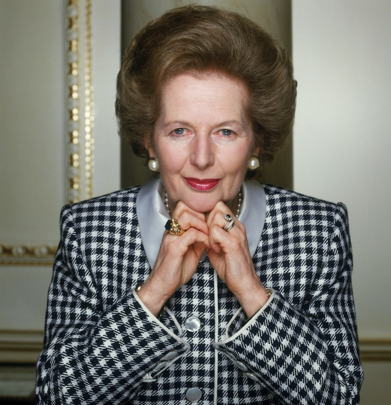 Margaret Thatcher, British Conservative Prime Minister from 1979 to 1990, circa 1990.