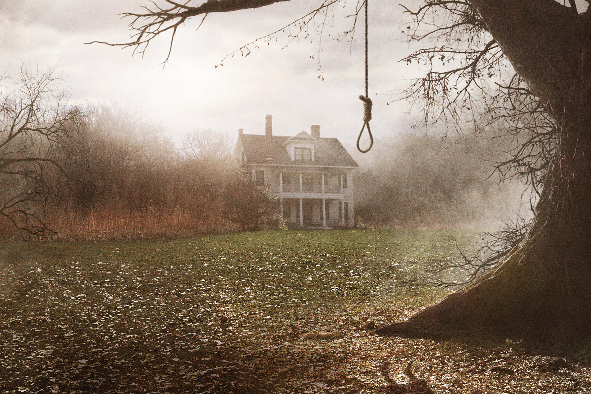 The R.I. home featured in The Conjuring is pictured.