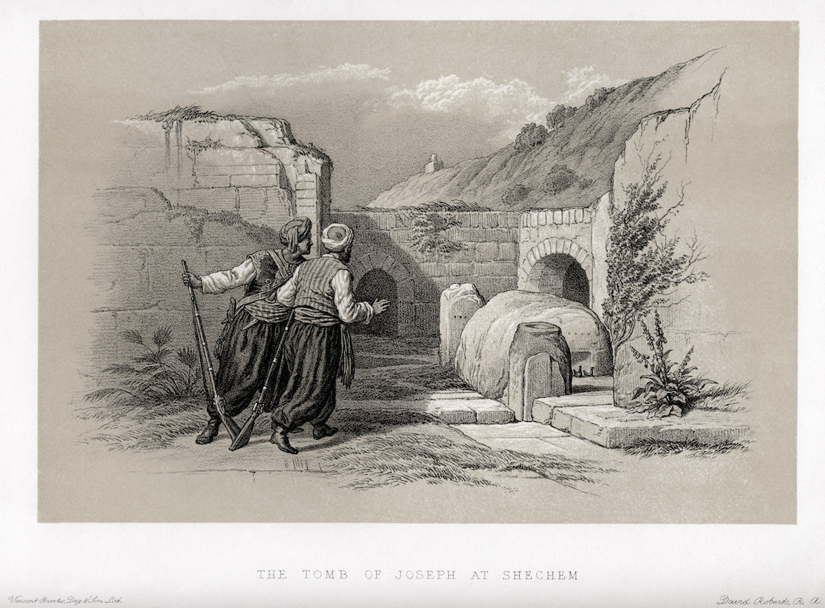 Lithograph of the tomb of Joseph, by David Roberts.
