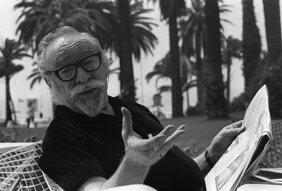 Dalton Trumbo poses for a photographer May 17, 1971, in Cannes, France
