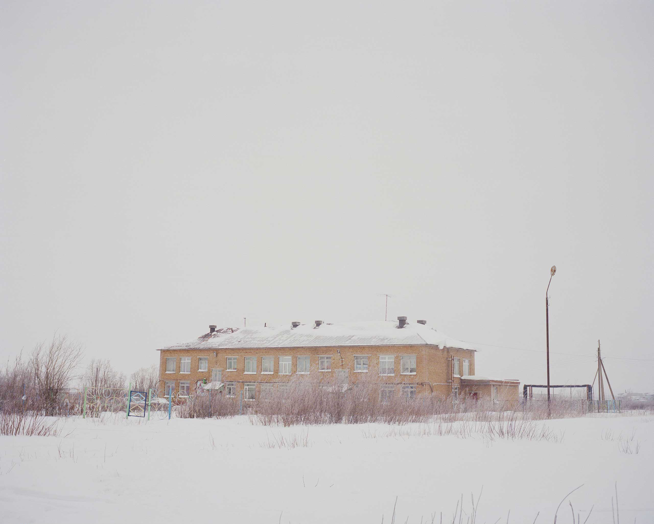 The exterior of the boarding school for the ethnic Nenets in Vorkuta, Russia. All the photographs were made in Nov. 2014.