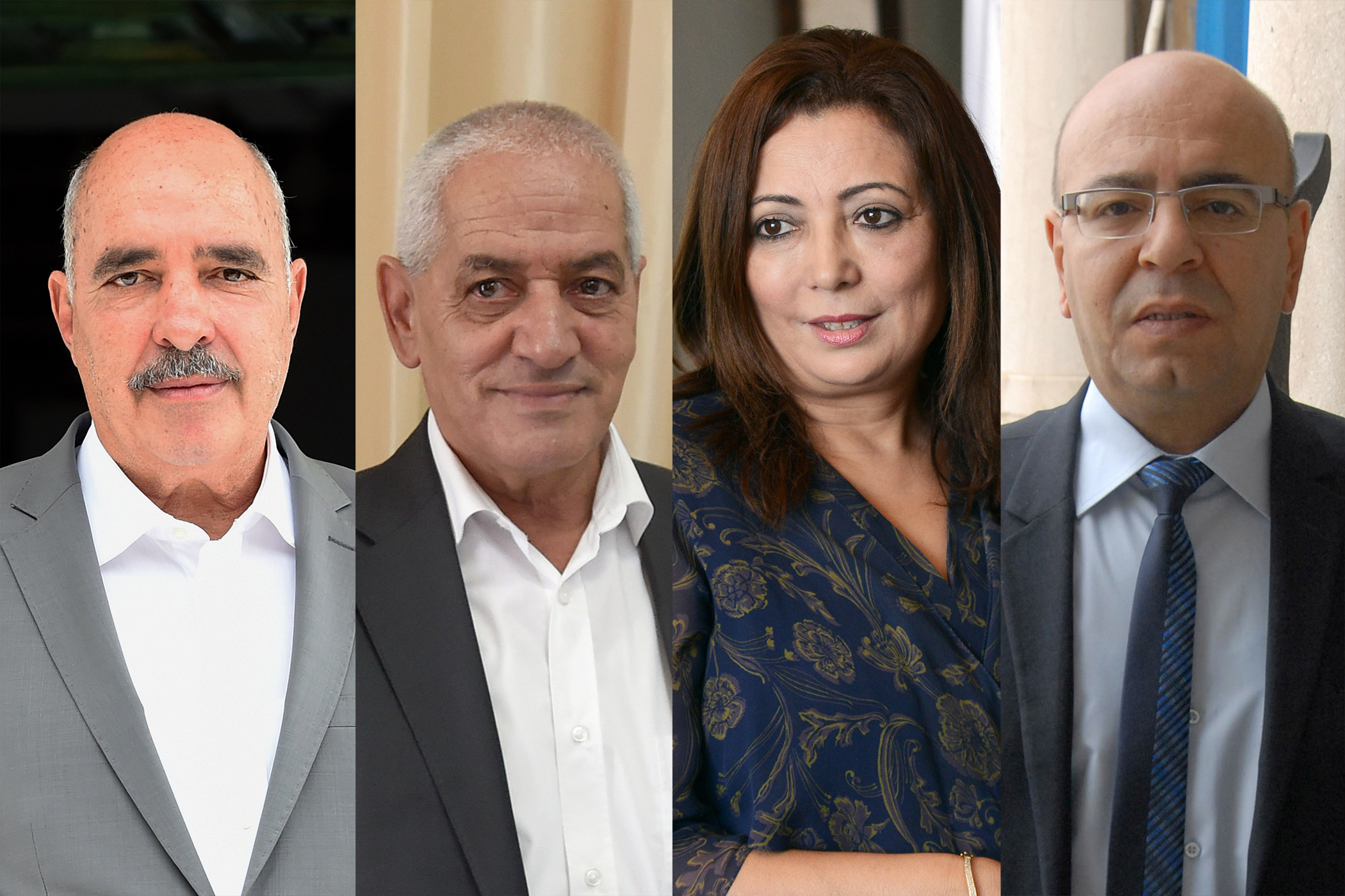The Tunisian National Dialogue Quartet members: Wilded Bouchamaoui; Fadhel Mahfoudh; Abdessattar ben Moussa and Houcine Abbassi on Oct. 9, 2015.
