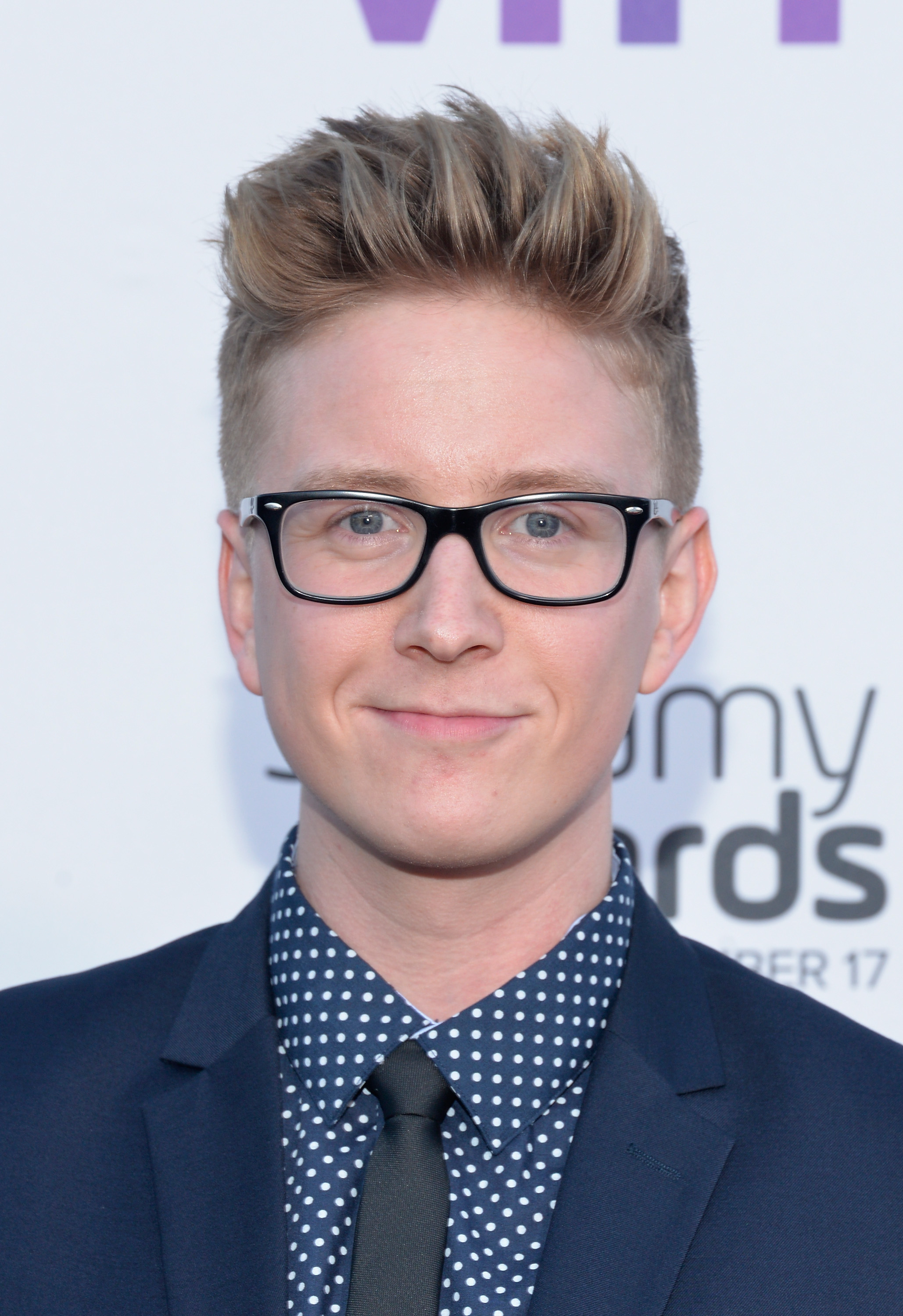 Internet personality Tyler Oakley attends the 5th Annual Streamy Awards at Hollywood Palladium in Los Angeles, on Sept. 17, 2015.