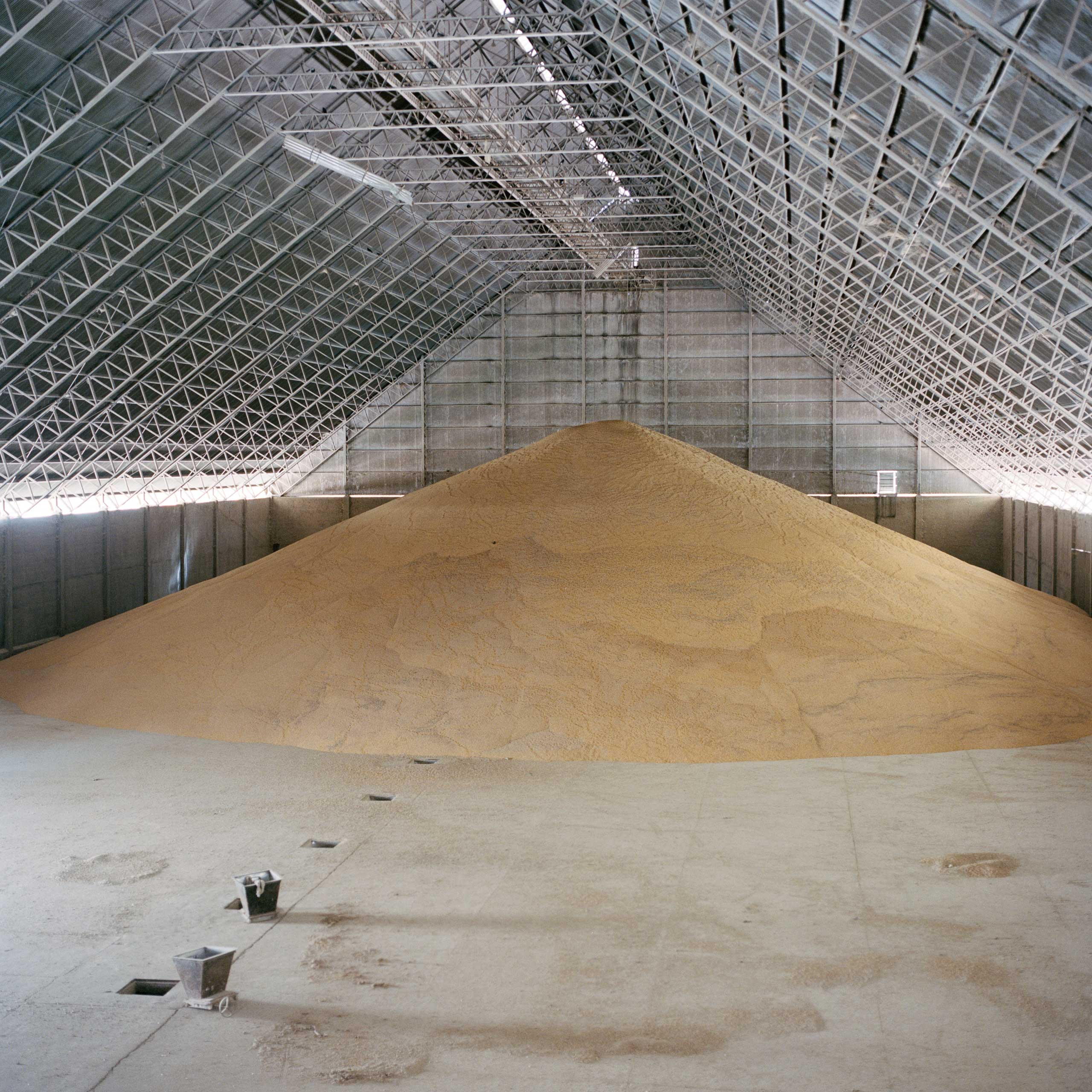 A silo full of corn at Puerto Gical, one of the main private ports on the Paraguay River. Thanks to soy, cereals and meat exports,  Paraguay is one of the fastest growing economies in Latin America, reaching a 13% GDP growth in 2013, one of the world's biggest.