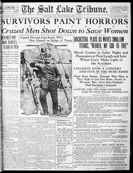 Salt Lake Tribune. (Salt Lake City, UT) 1912-04-19 [p ].