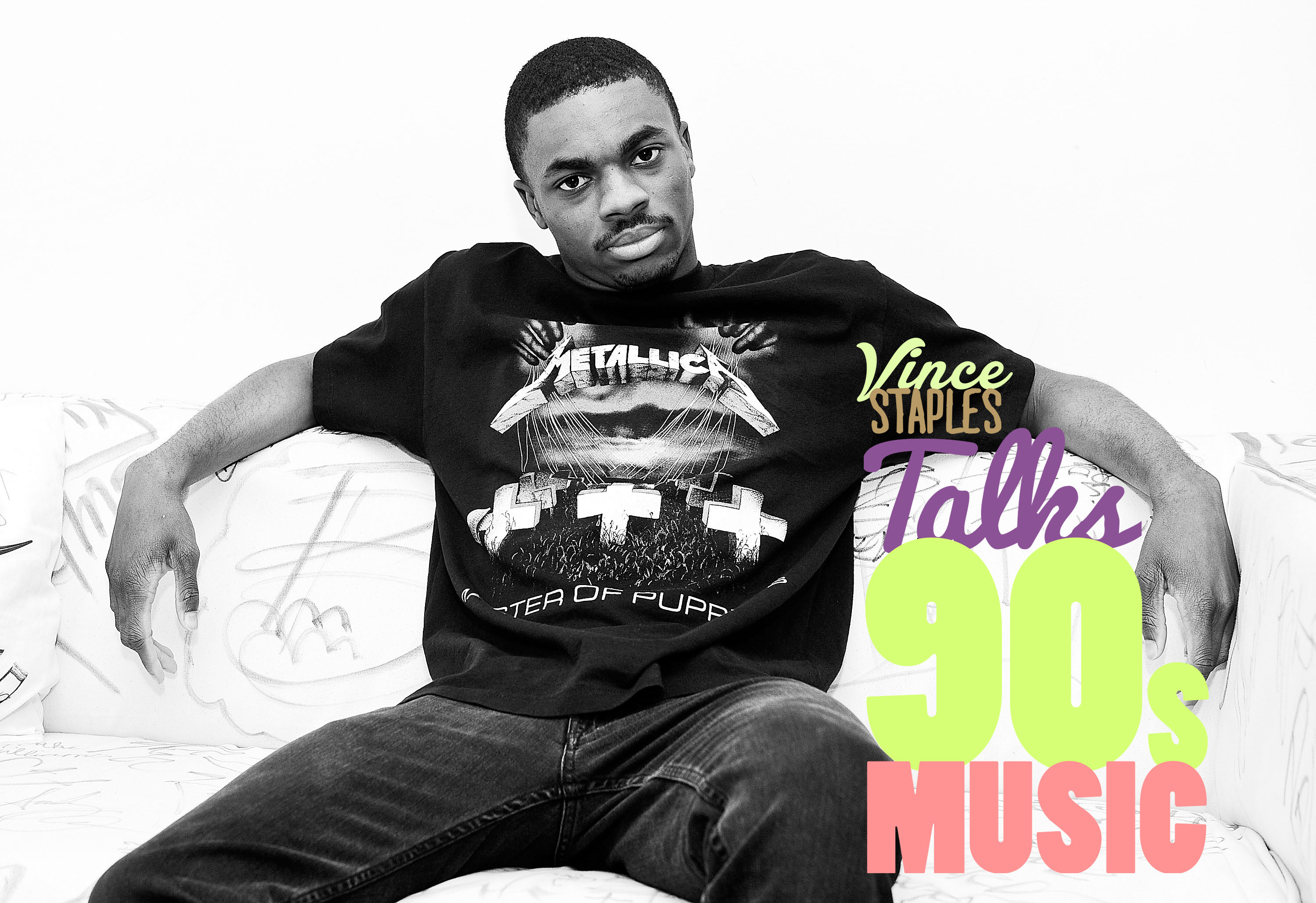 NEW YORK, NY - JULY 23: (Editors Note: Image has been converted to black and white) Rapper Vince Staples visits Music Choice on July 23, 2015 in New York City.  (Photo by Daniel Zuchnik/Getty Images)