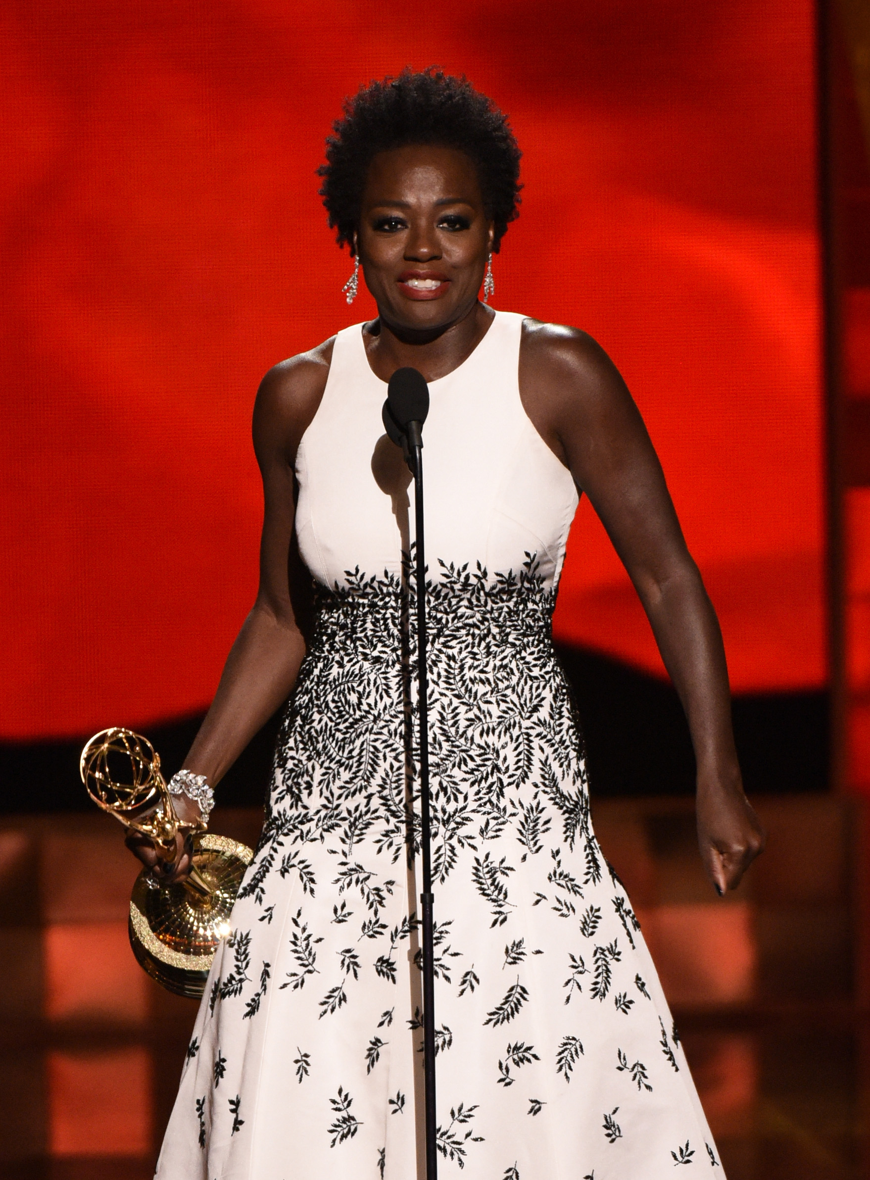 Viola Davis accepts Outstanding Lead Actress in a Drama Series award for How to Get Away with Murder onstage during the 67th Annual Primetime Emmy Awards on Sept. 20, 2015 in Los Angeles, California.