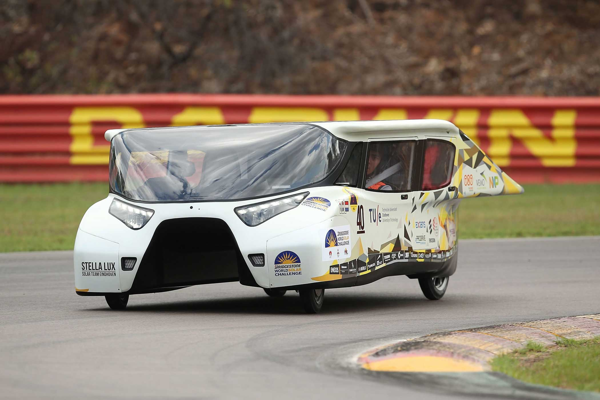 Solar Team Eindhoven's Stella Lux during track testing on Oct. 15, 2015.