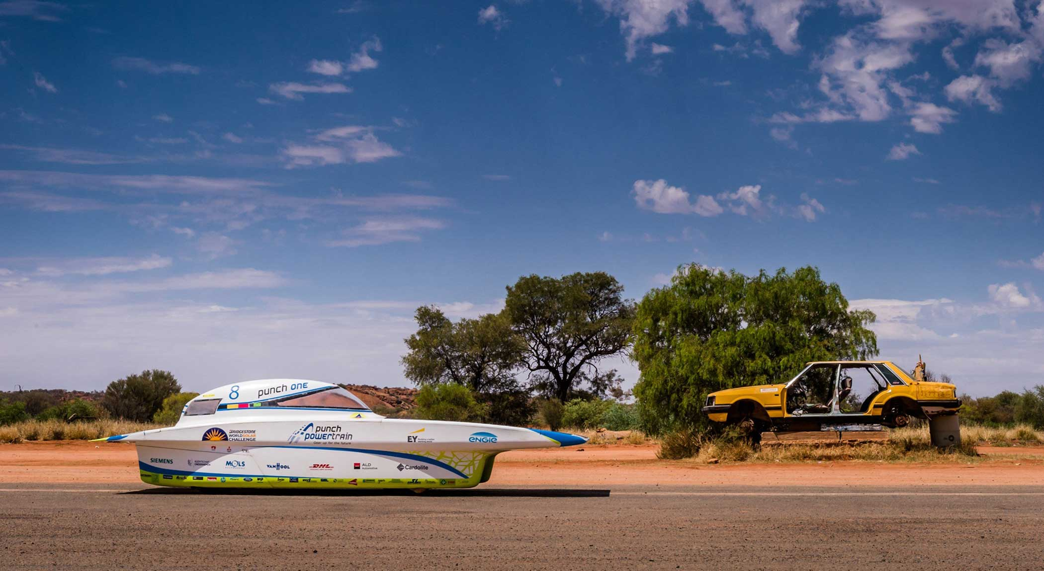 The Belgian Punch Powertrain Solar Team car on Oct. 20, 2015.