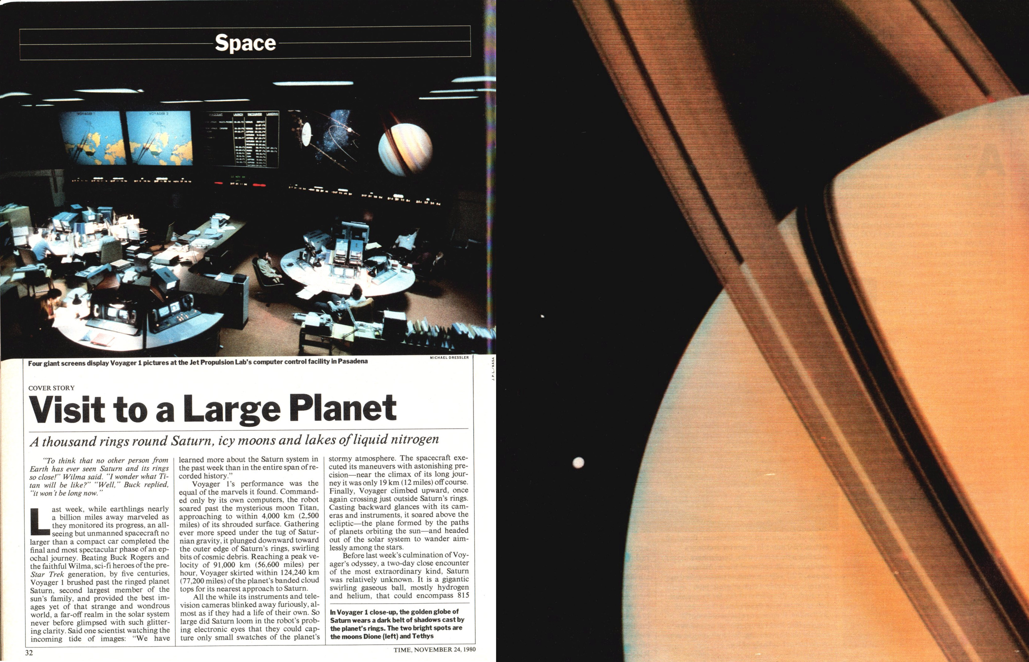 A spread from the Nov. 24, 1980, issue of TIME