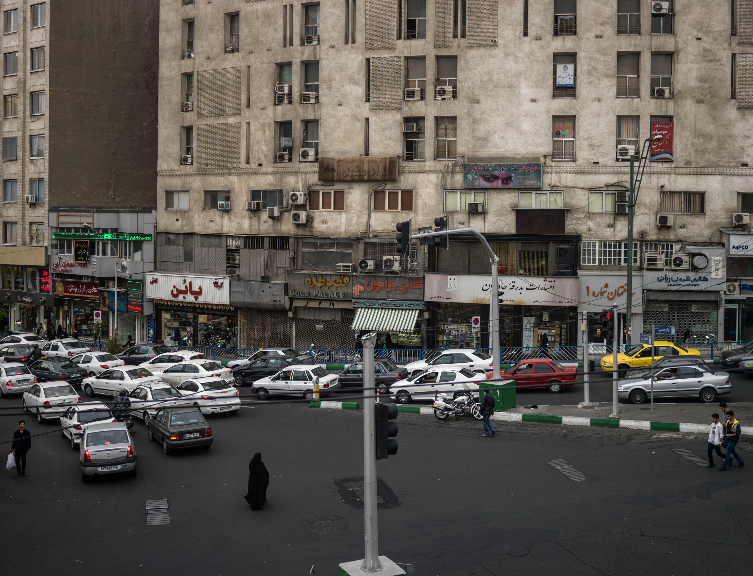 View of a Tehran street.