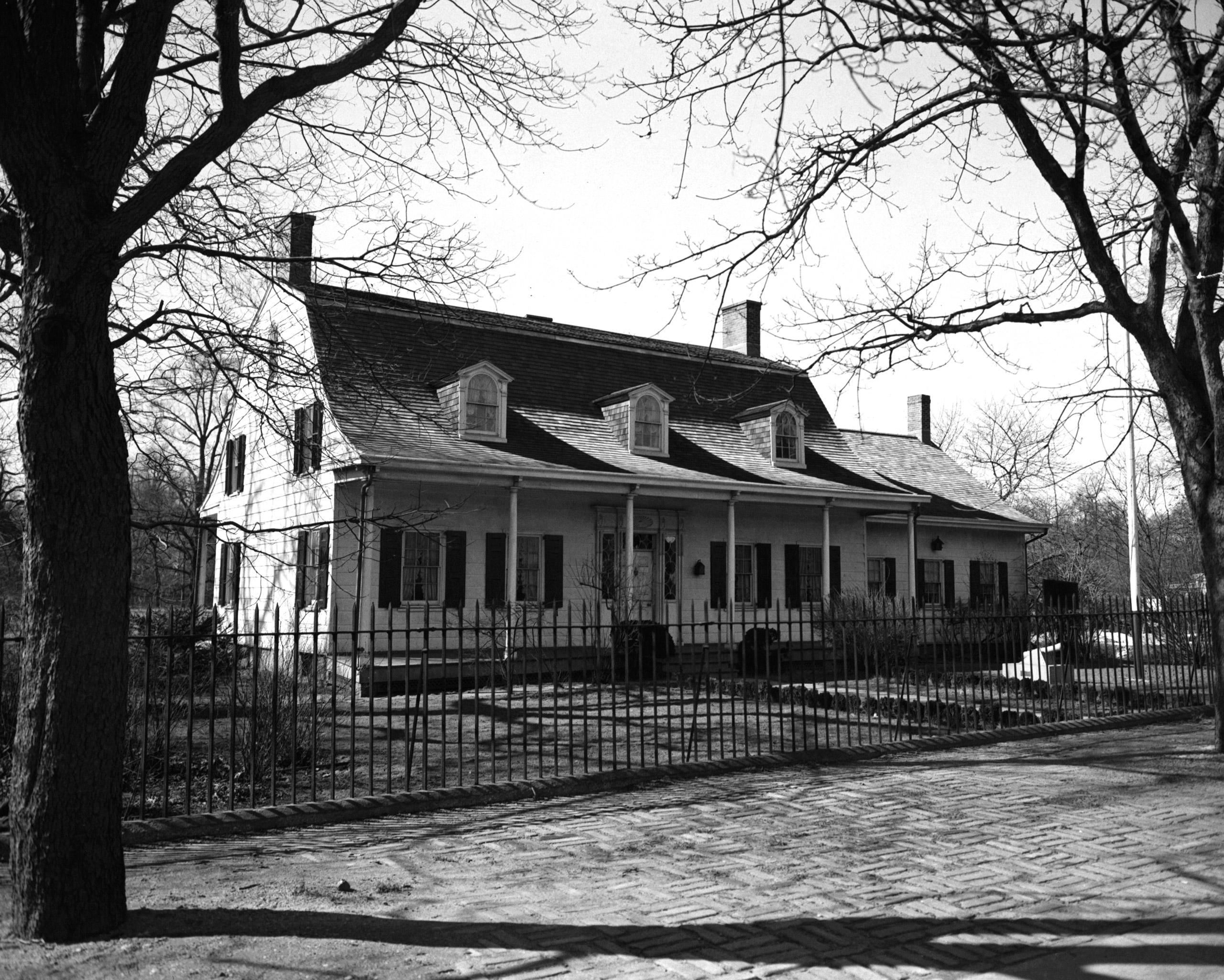 The Lefferts Homestead in Prospect Park, Brooklyn, 1955.