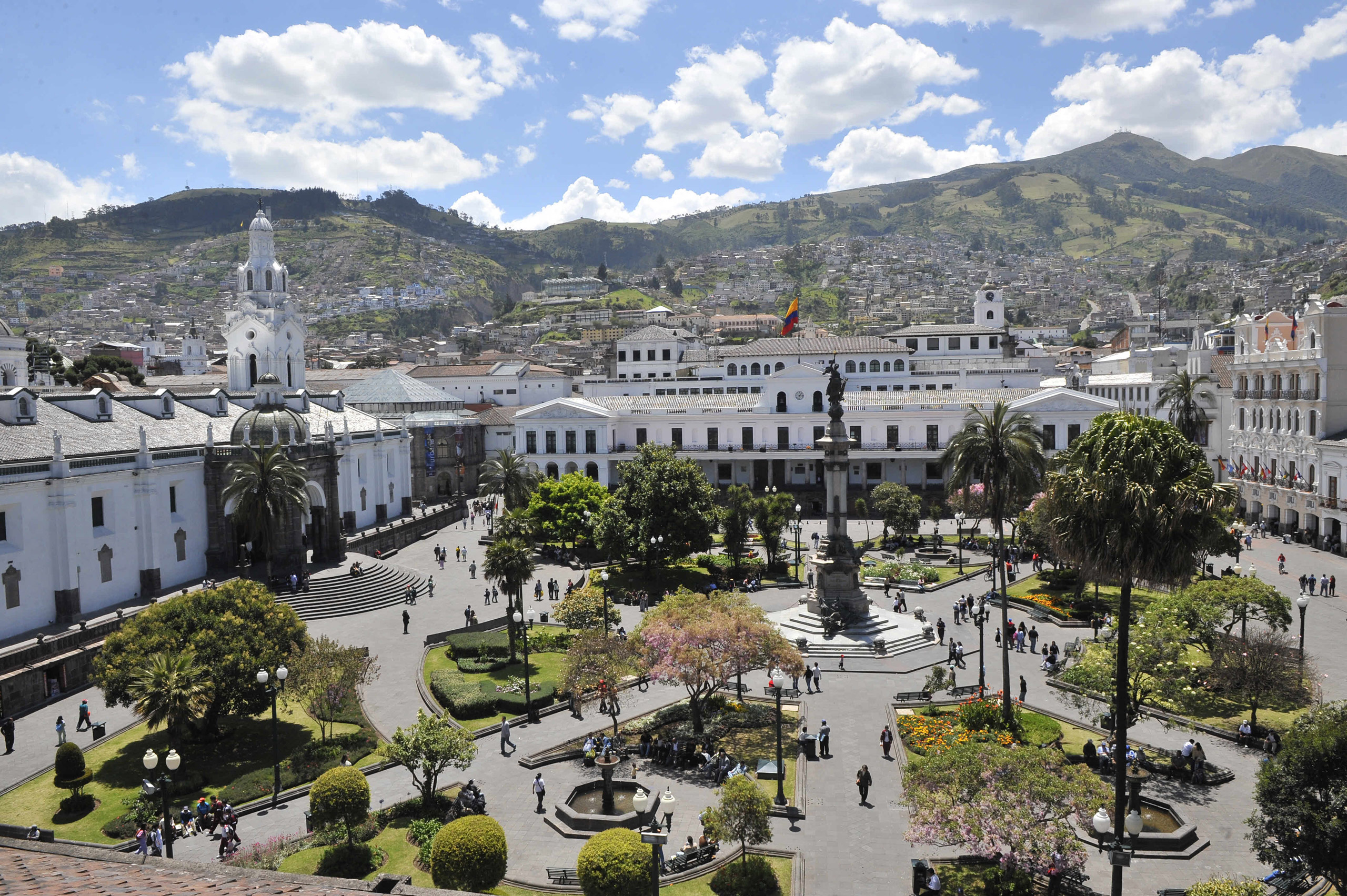 Quito's Plaza Grande square seen on Sept. 12, 2008, in a week in which the Ecuadorean capital celebrates its 30th anniversary as a World Heritage Site. Founded by the Spanish in 1534, the city of Quito was in 1978 the first capital to be inscribed in the UNESCO's cultural heritage list.