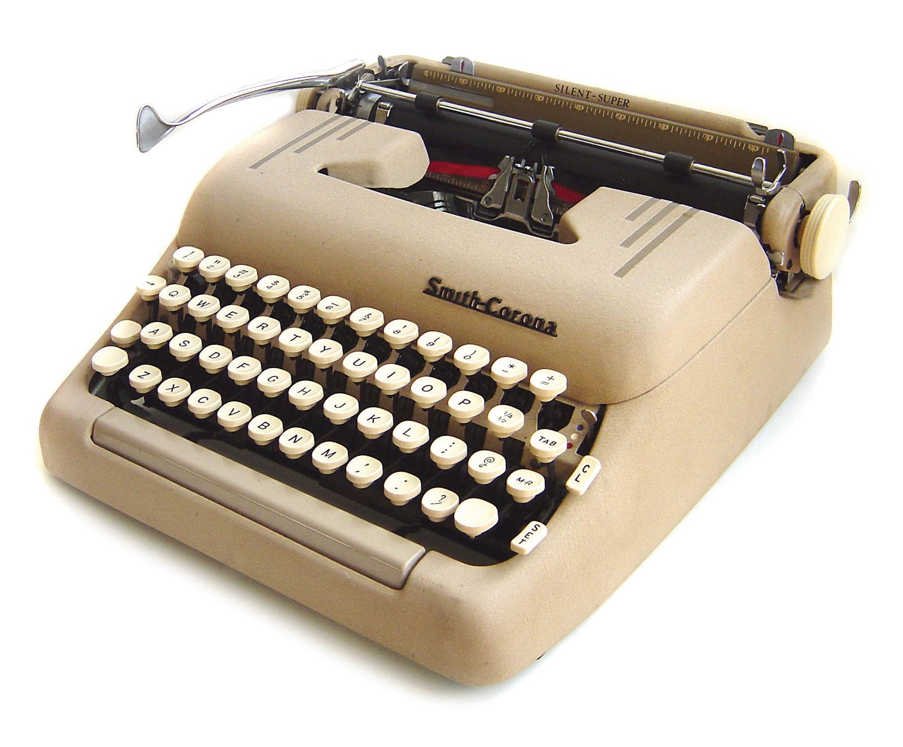 The Smith-Corona Silent-Super was produced in the 1950s. 1956.