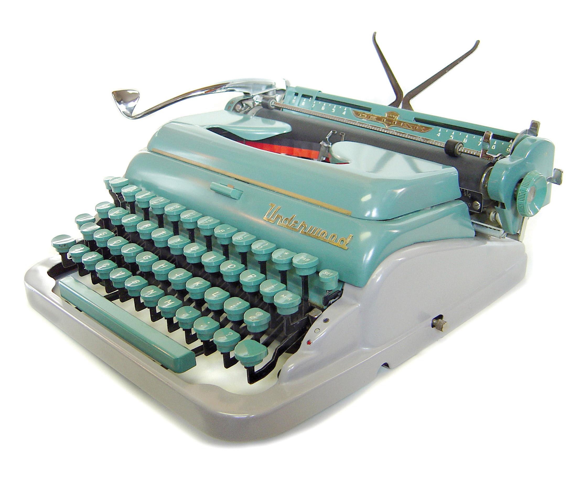 The mid-century Underwood Deluxe Quiet Tab. 1956.